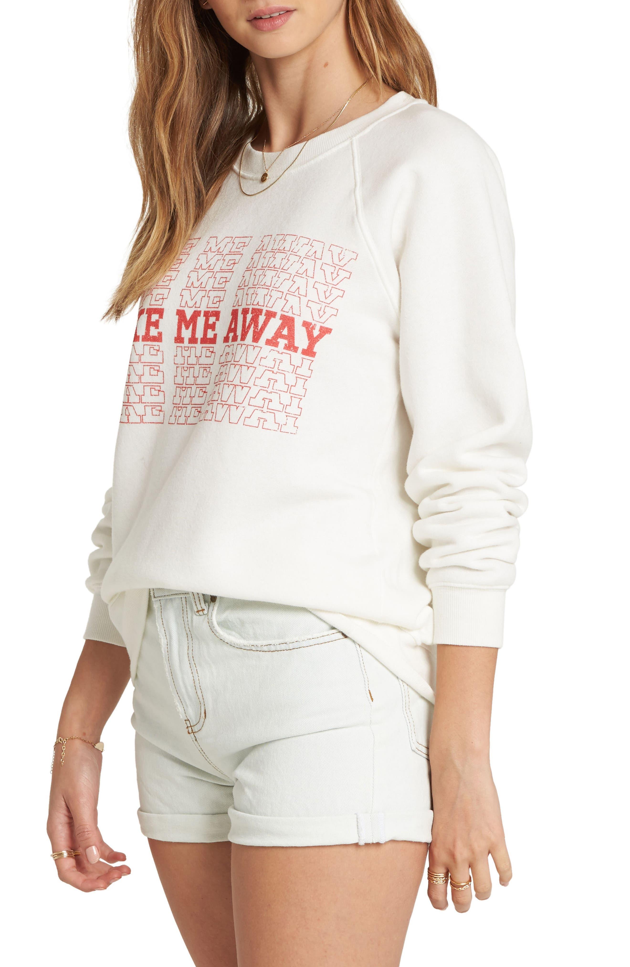 Take Me Away Graphic Crop Sweatshirt,                             Alternate thumbnail 3, color,                             190