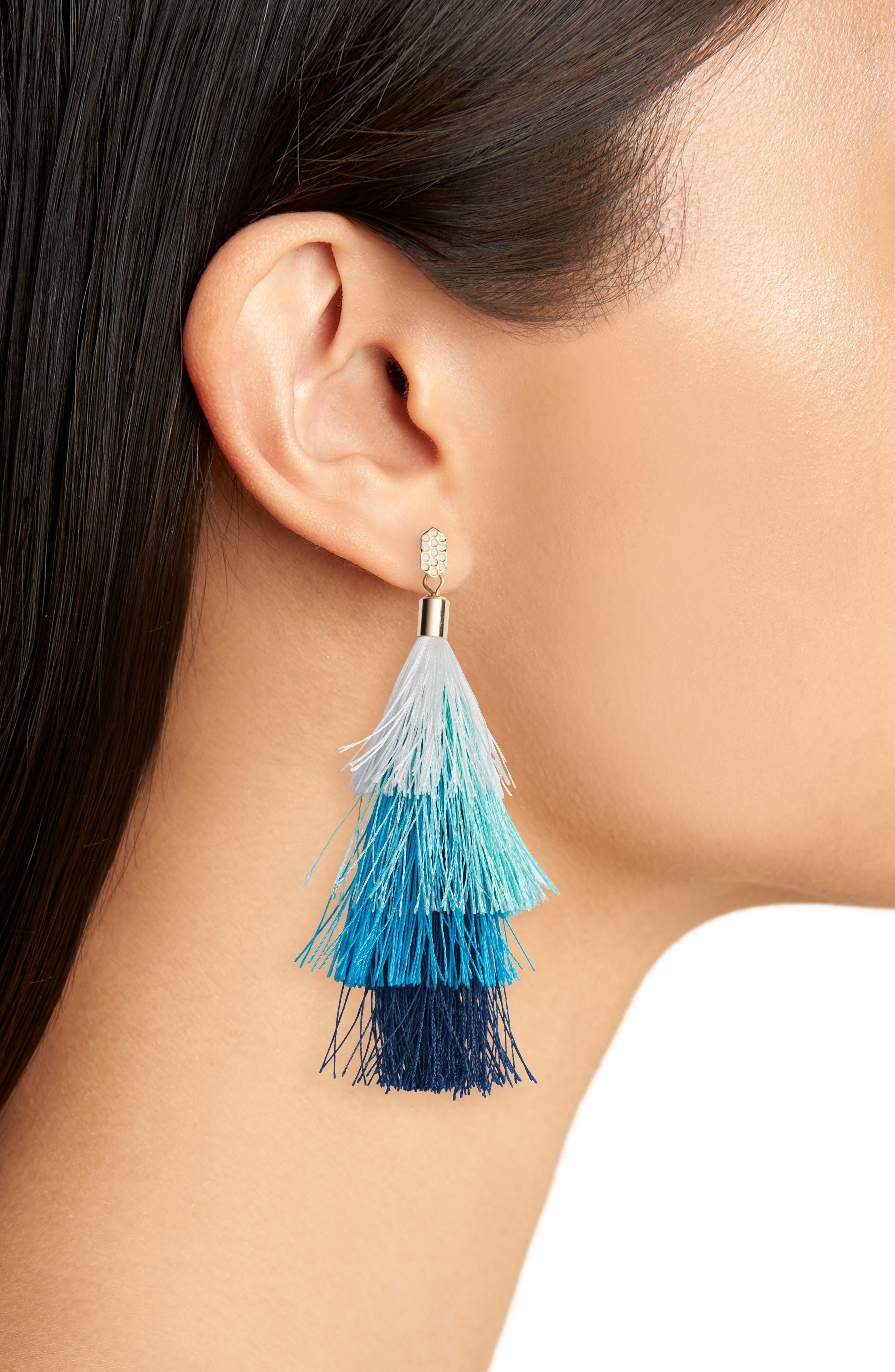 Stacked Tassel Earrings,                             Alternate thumbnail 2, color,                             439