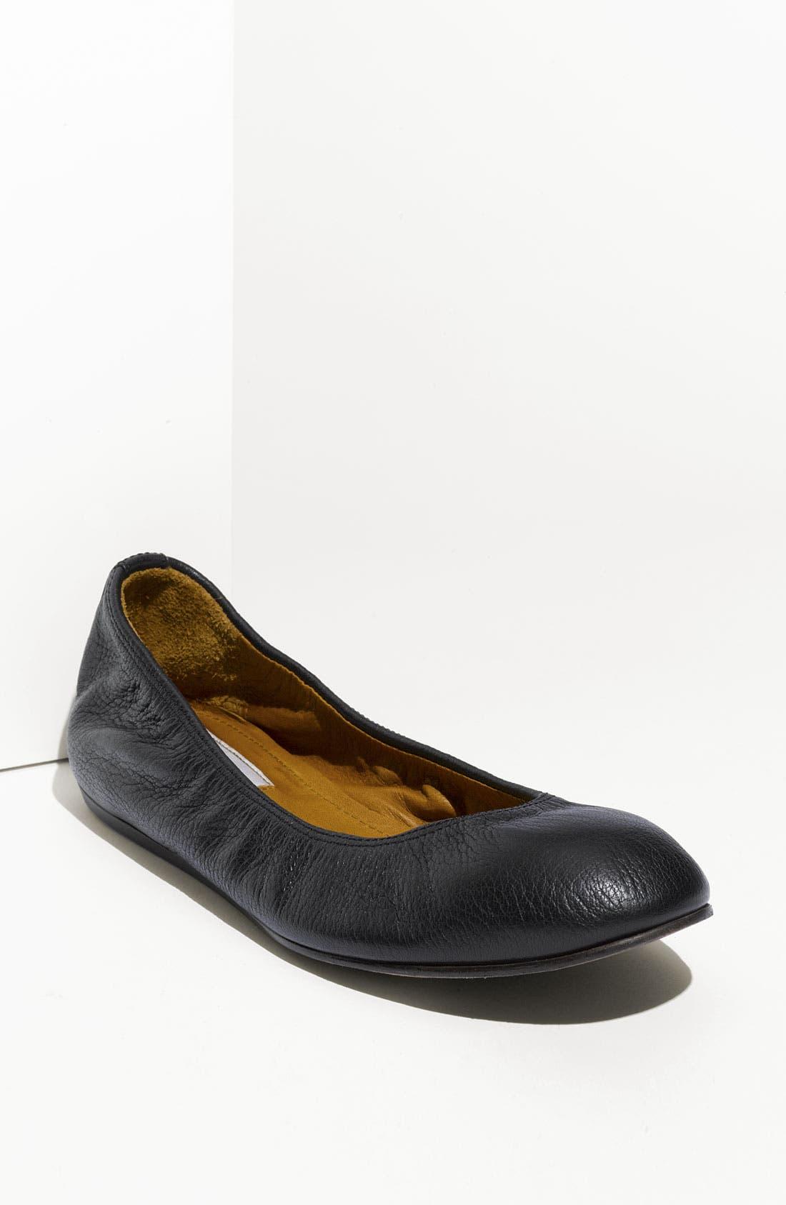 LANVIN Classic Ballerina Flat, Main, color, 001