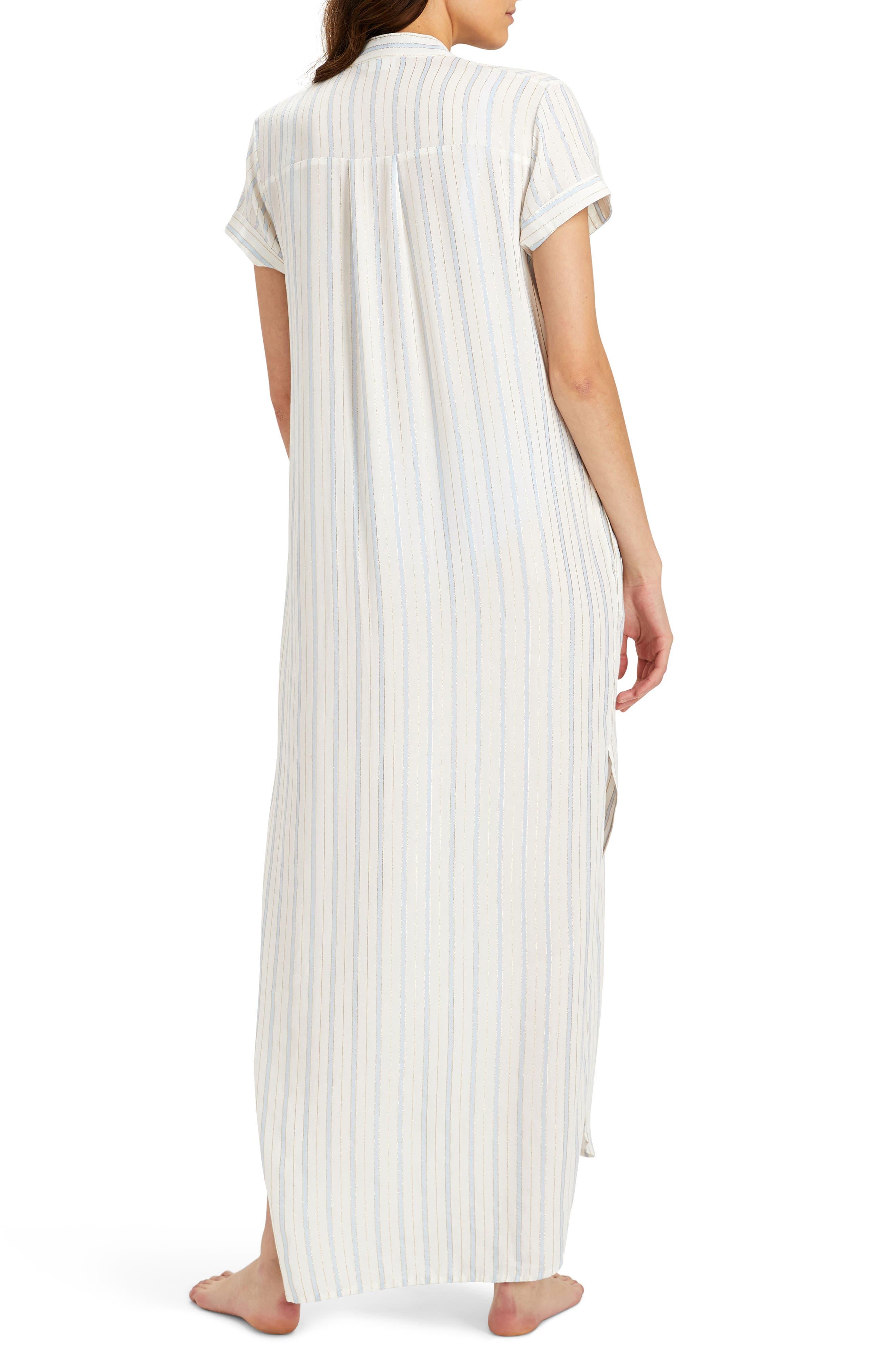 Kim Stripe Button Down Cover-Up Maxi Dress,                             Alternate thumbnail 2, color,                             101