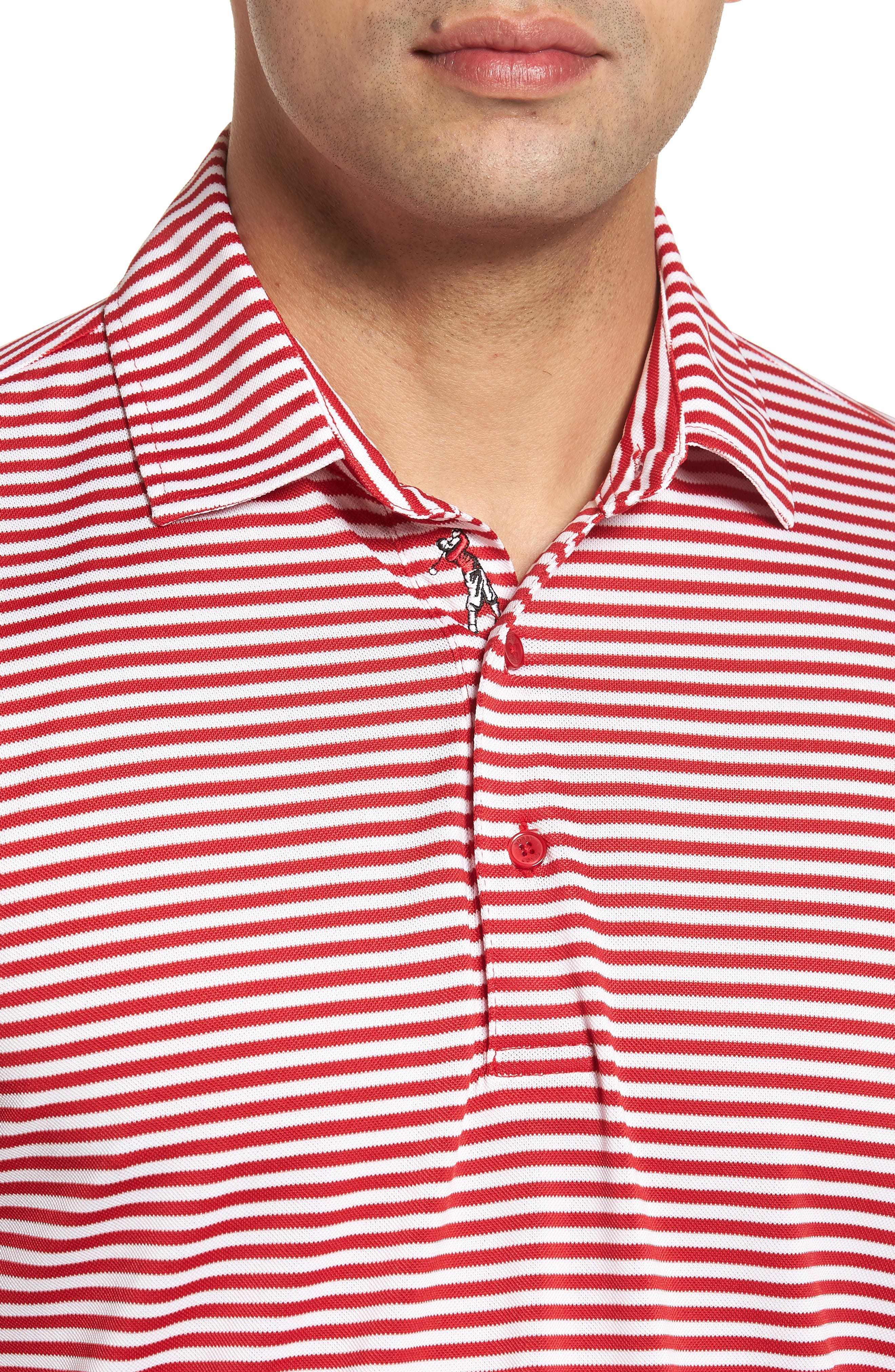 XH2O Feed Stripe Stretch Golf Polo,                             Alternate thumbnail 60, color,