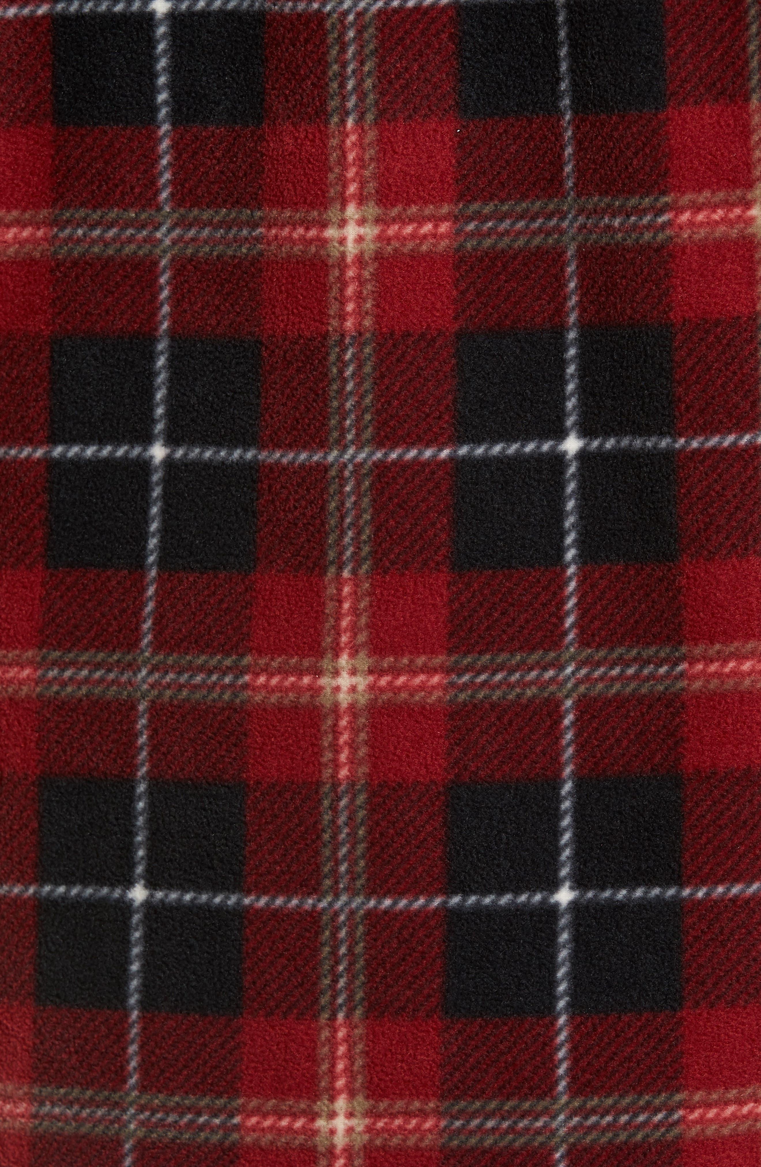 Glacier Plaid Fleece Flannel Shirt,                             Alternate thumbnail 23, color,