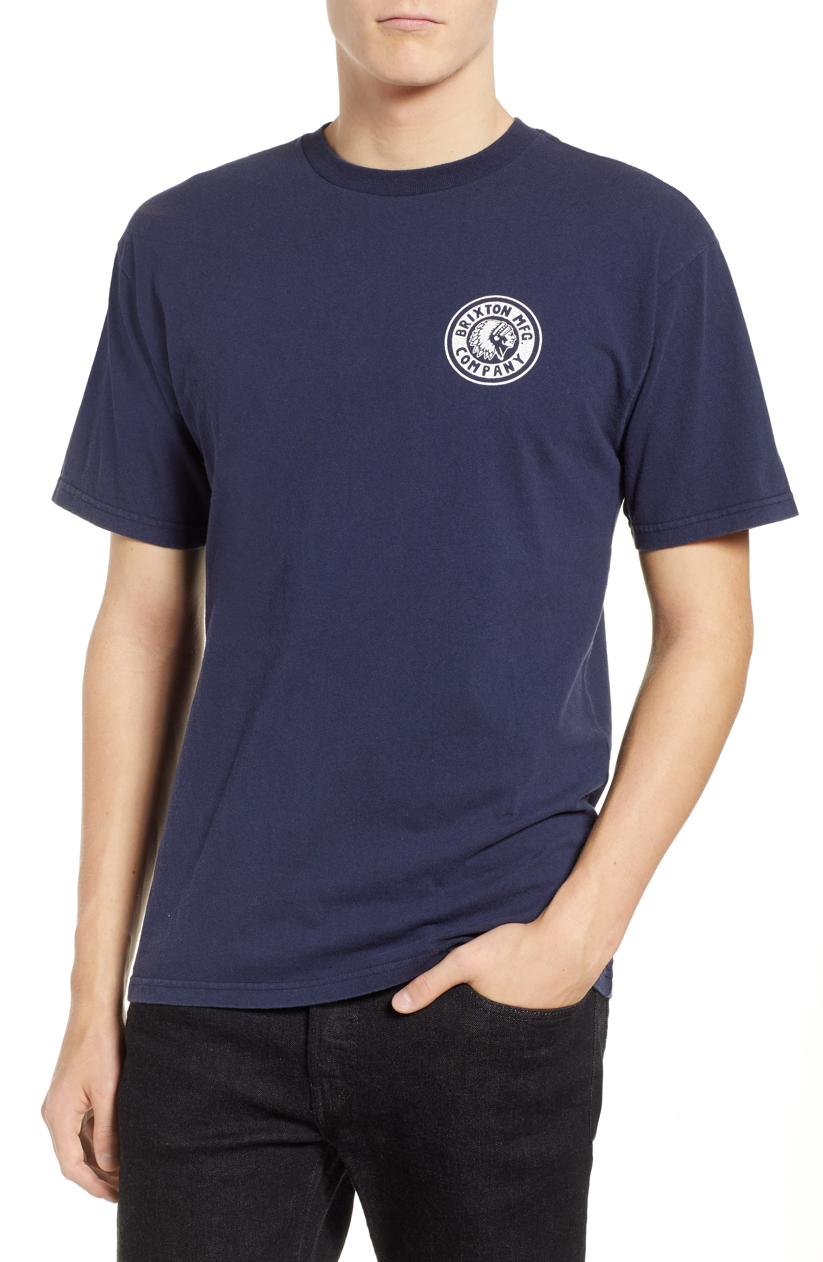Rival II Graphic T-Shirt,                         Main,                         color, NAVY/ WHITE