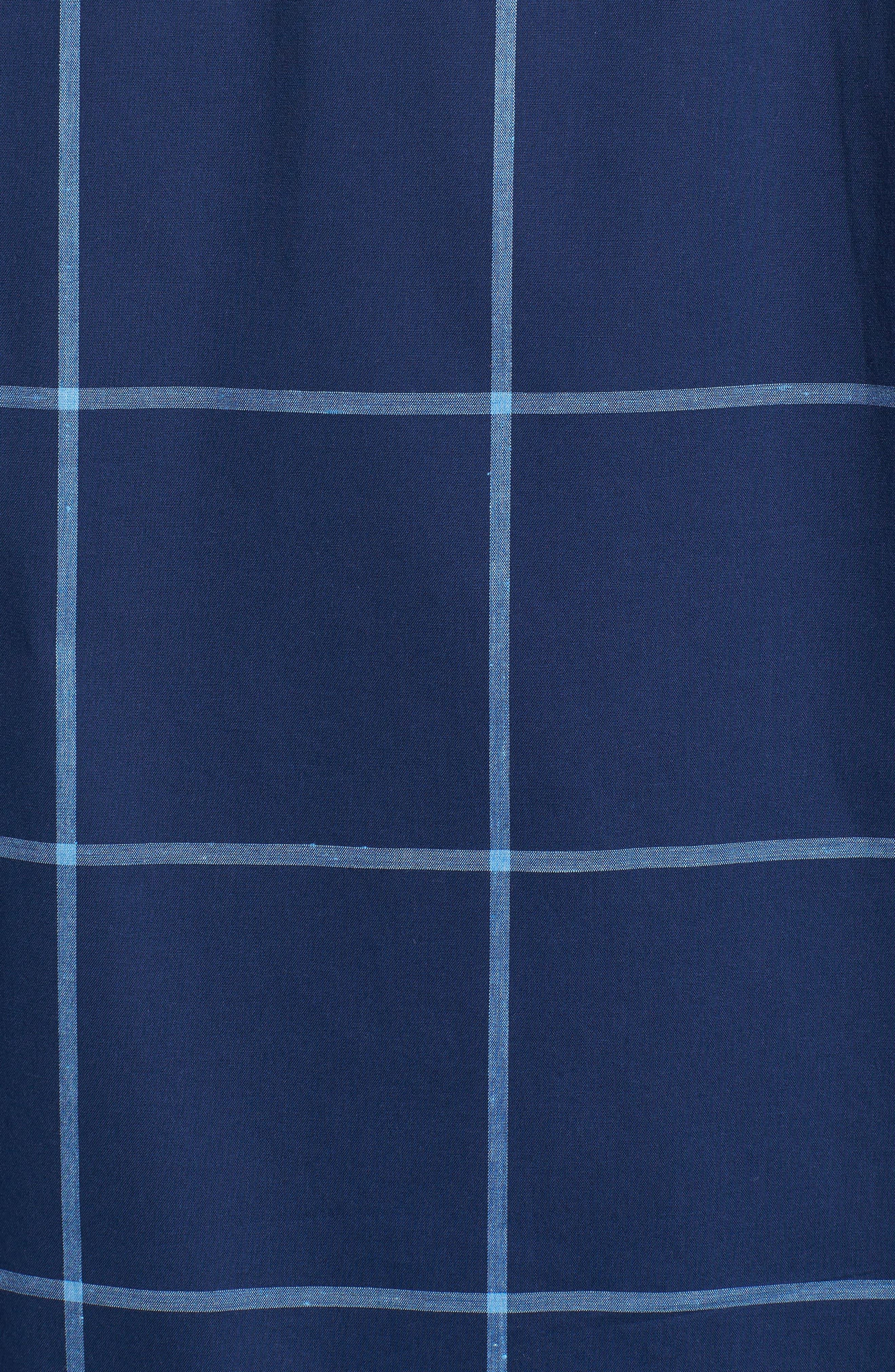Shaped Fit Windowpane Plaid Sport Shirt,                             Alternate thumbnail 5, color,                             411