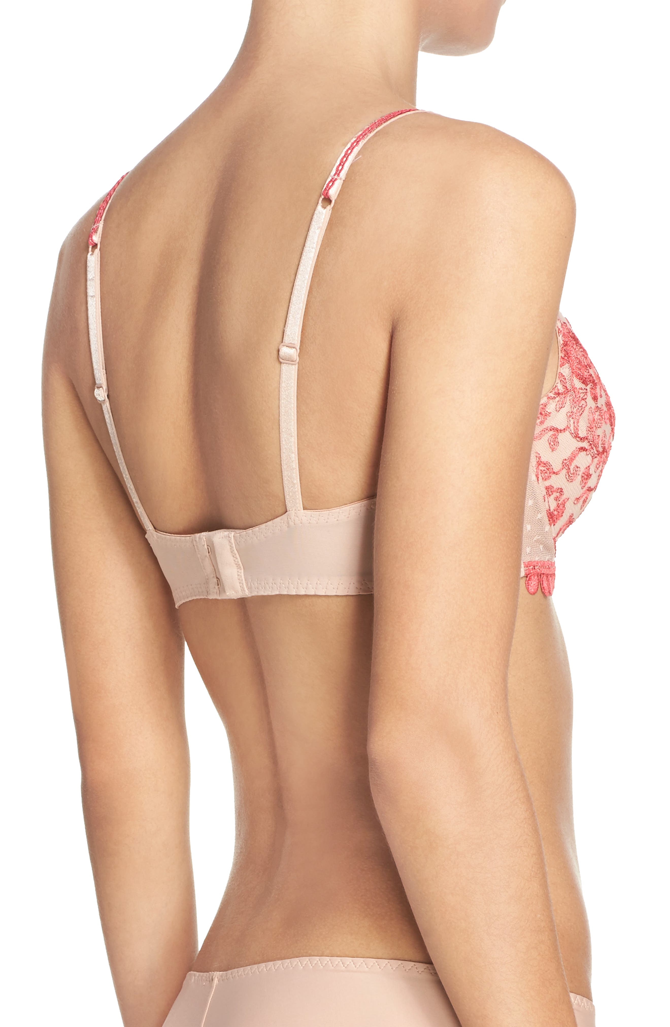 Baisers de Paris Underwire Bra,                             Alternate thumbnail 6, color,