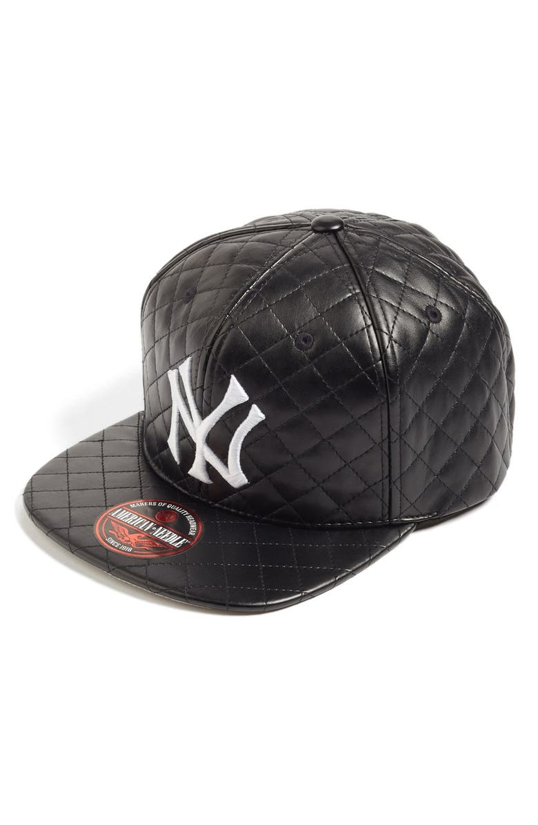c8a851cee7b American Needle  New York Yankees - Quilted  Faux Leather Snapback ...