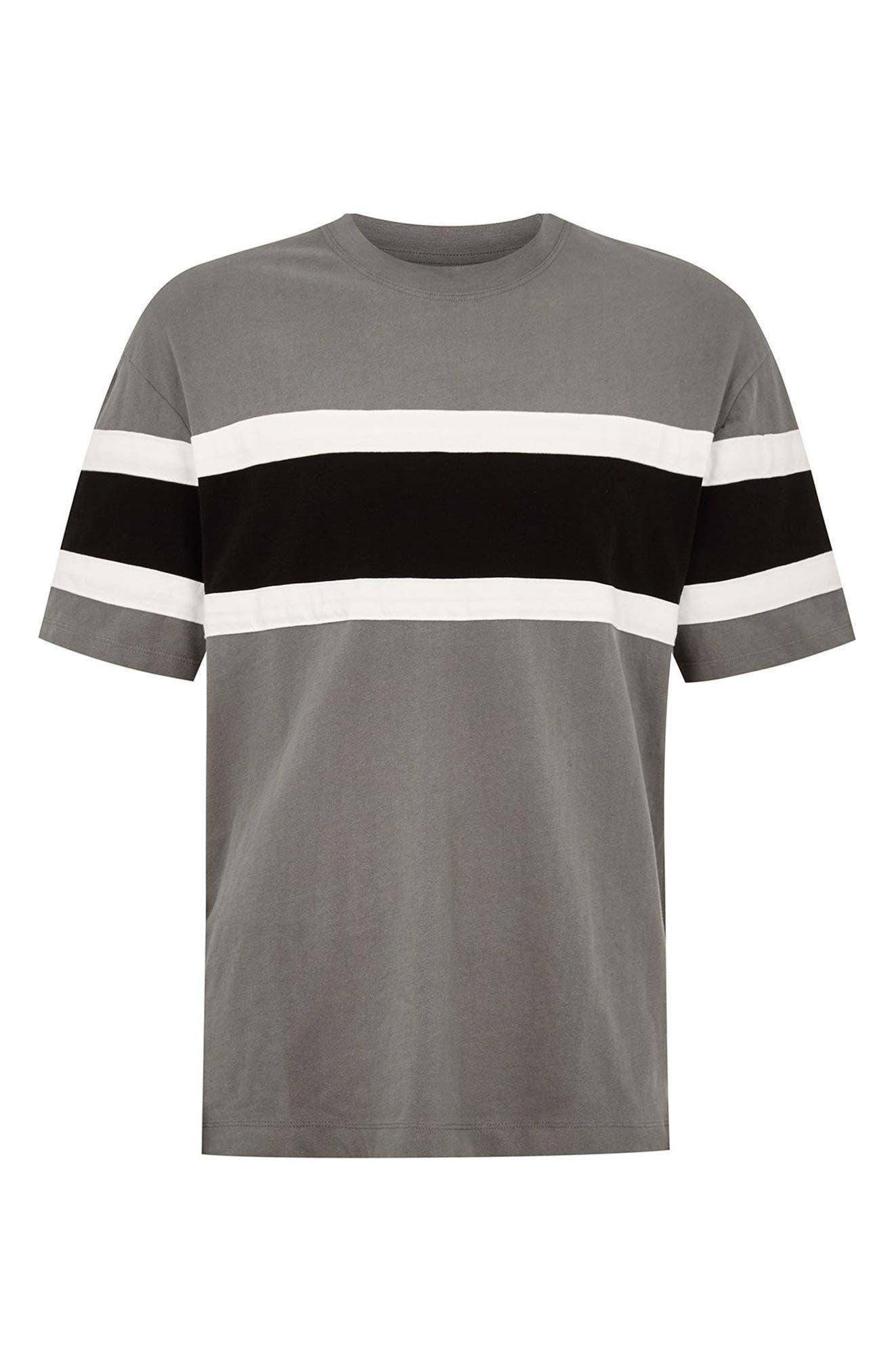 Oversize Colorblock T-Shirt,                             Alternate thumbnail 4, color,                             BLACK MULTI