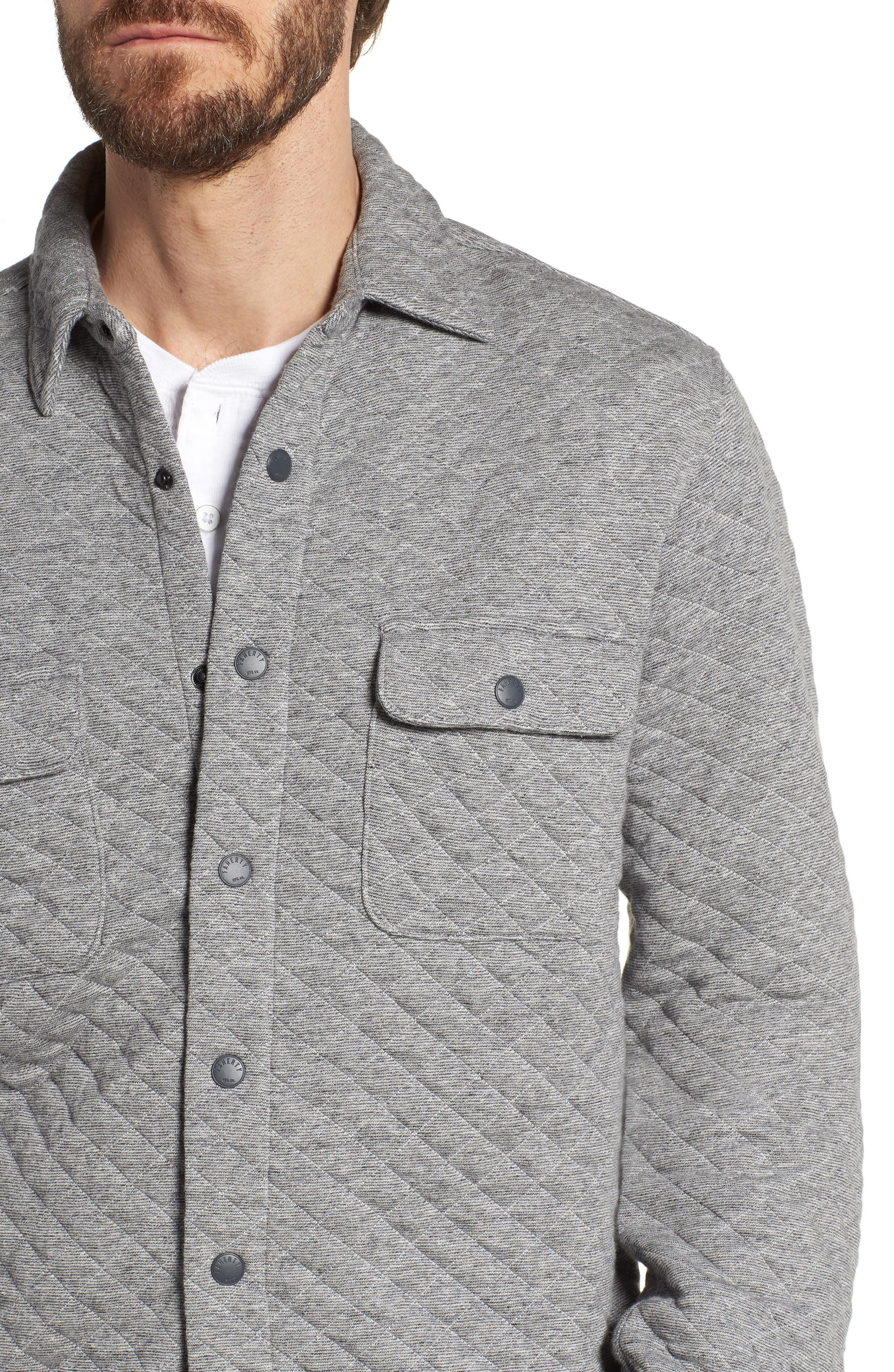 Belmar Quilted Snap Shirt Jacket,                             Alternate thumbnail 4, color,                             060