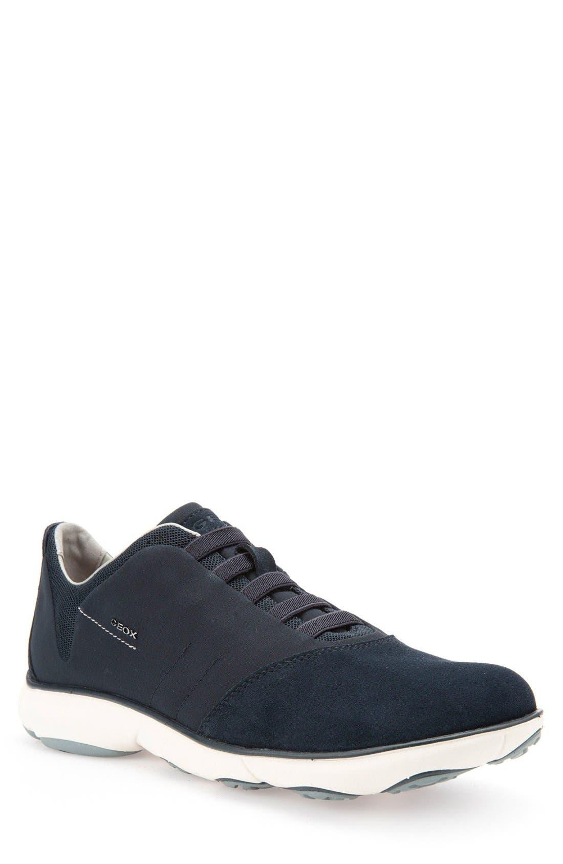 Nebula10 Slip-On Sneaker,                             Main thumbnail 1, color,                             NAVY SUEDE