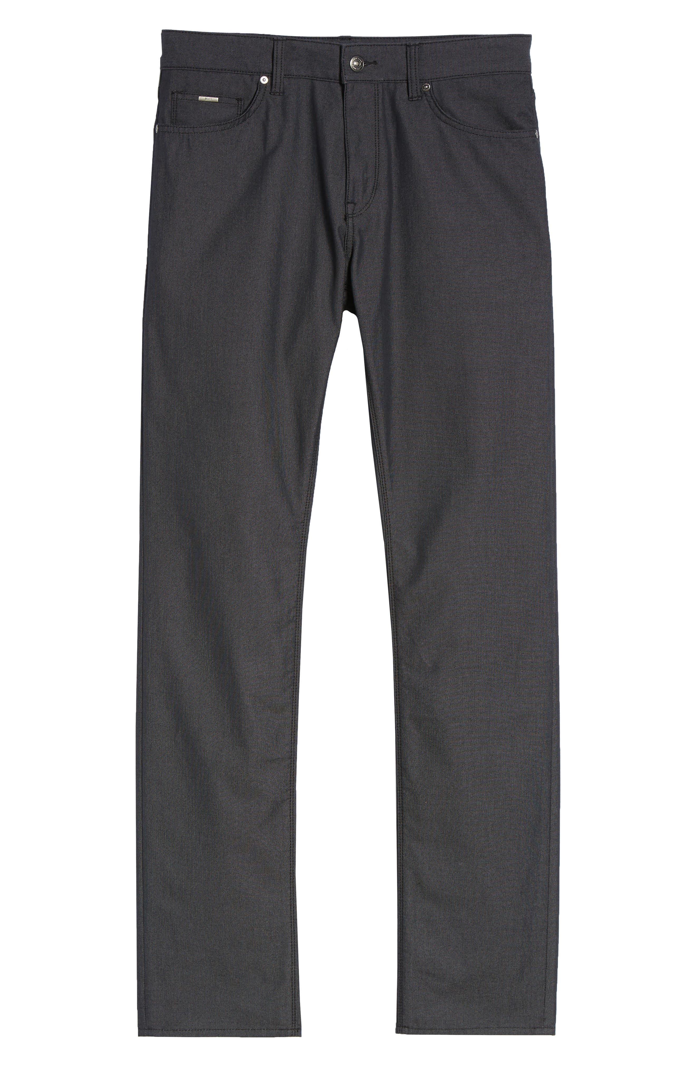 Maine Straight Leg Jeans,                             Alternate thumbnail 6, color,                             001