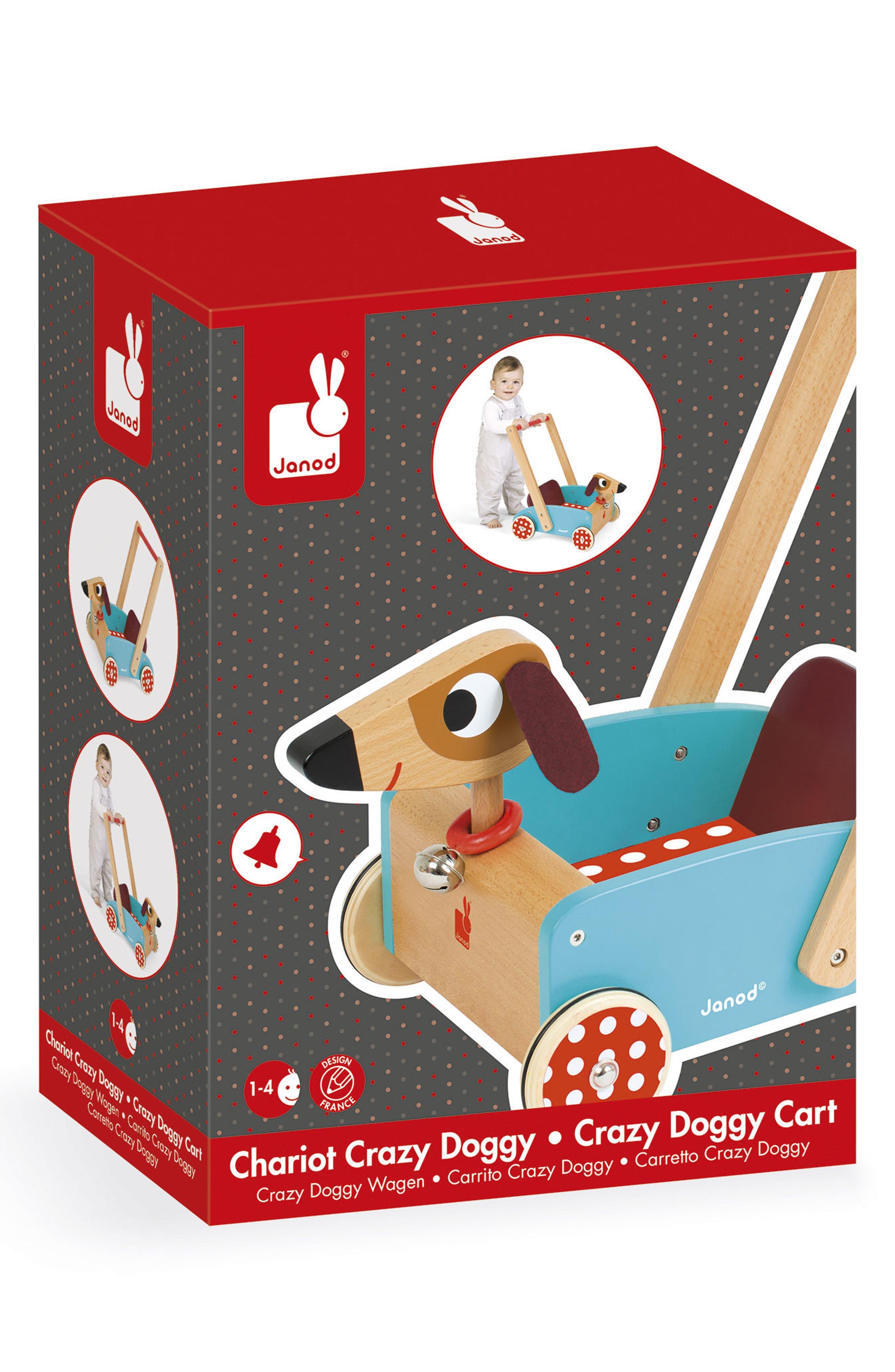 Wood Dog Cart,                             Alternate thumbnail 2, color,                             MULTI