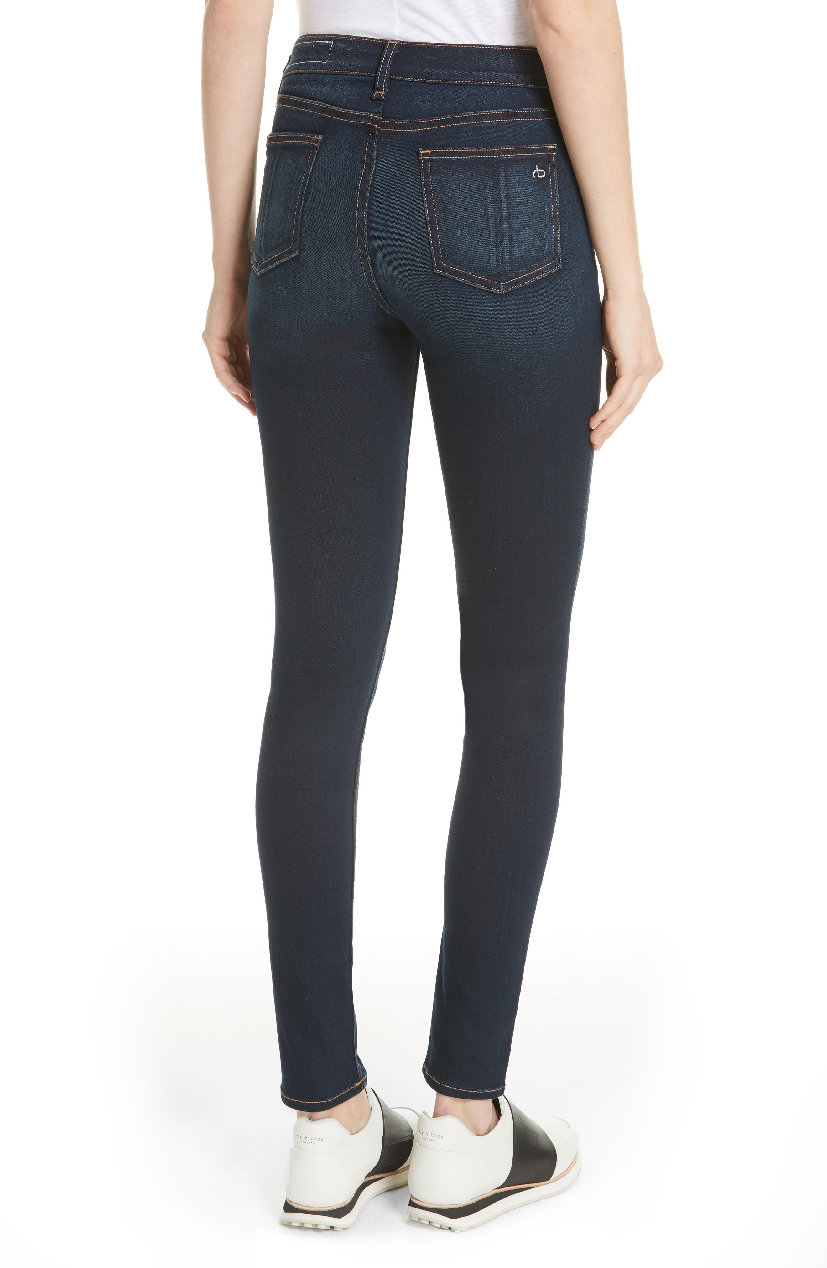 rag & bone DENIM High Waist Skinny Jeans,                             Alternate thumbnail 2, color,                             BEDFORD