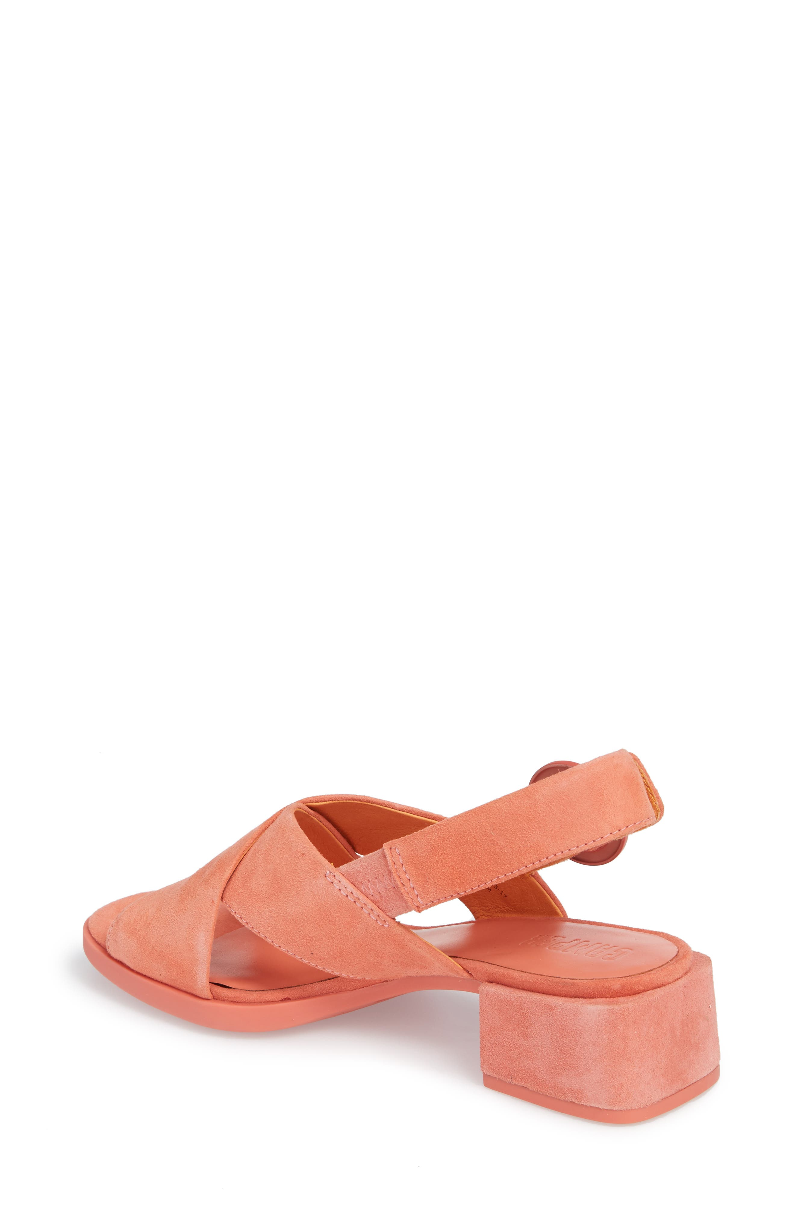 Kobo Cross Strap Sandal,                             Alternate thumbnail 2, color,                             MEDIUM PINK LEATHER