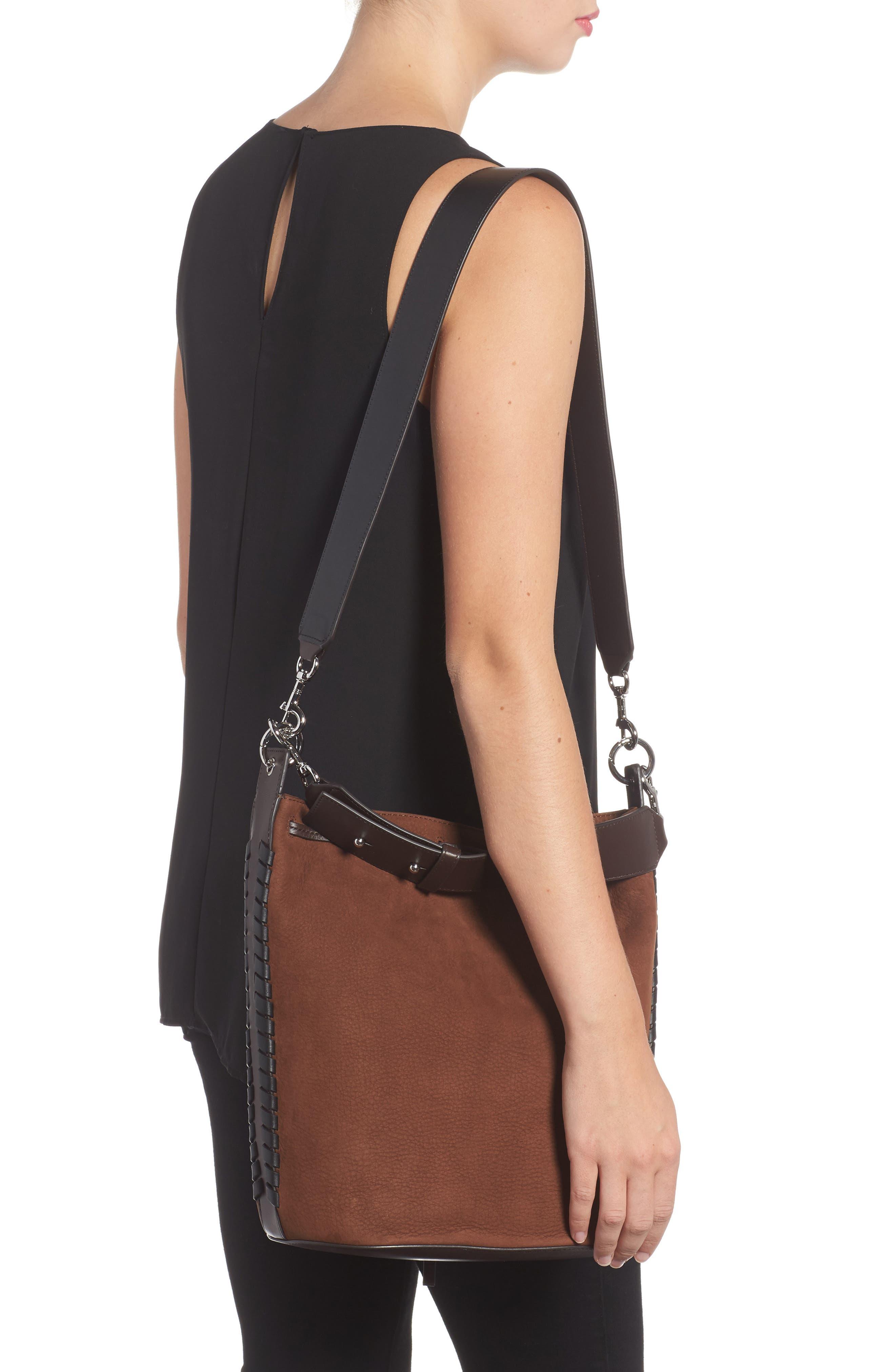 Ray Nubuck Leather Bucket Bag,                             Alternate thumbnail 2, color,                             200