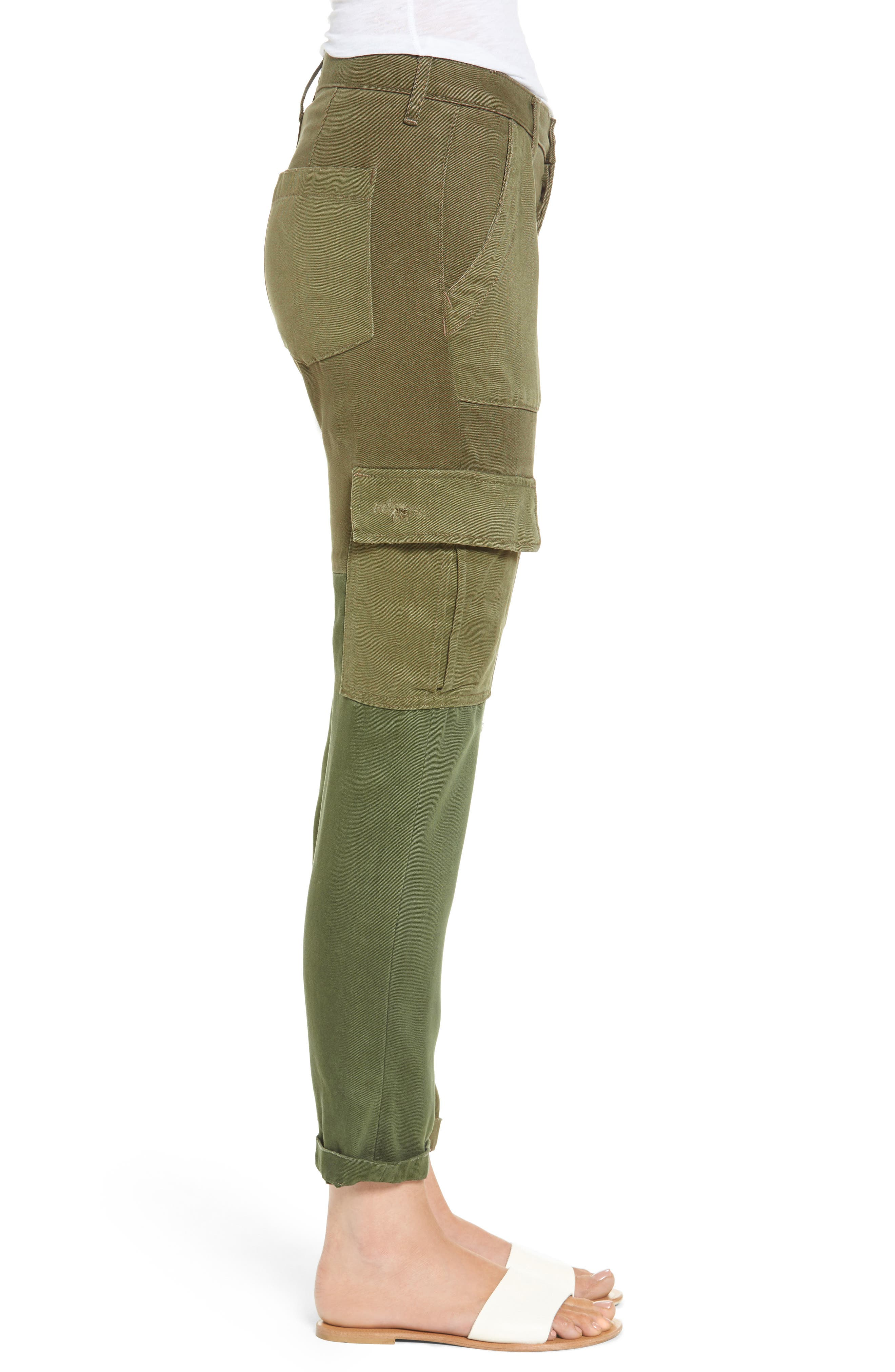 Riley Straight Leg Cargo Pants,                             Alternate thumbnail 3, color,                             340