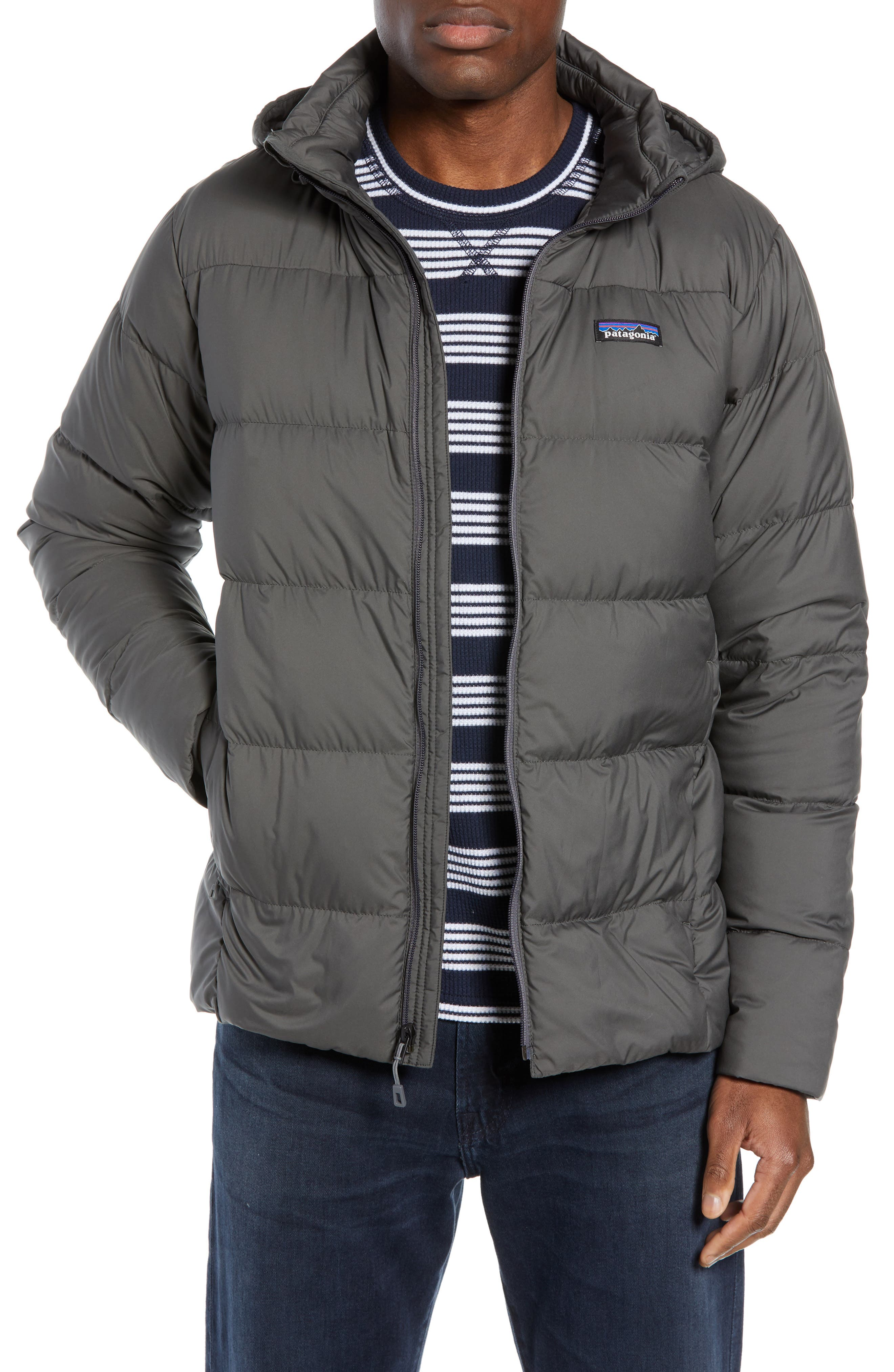 Patagonia Silent Water Repellent 700 Fill Power Down Jacket, Grey