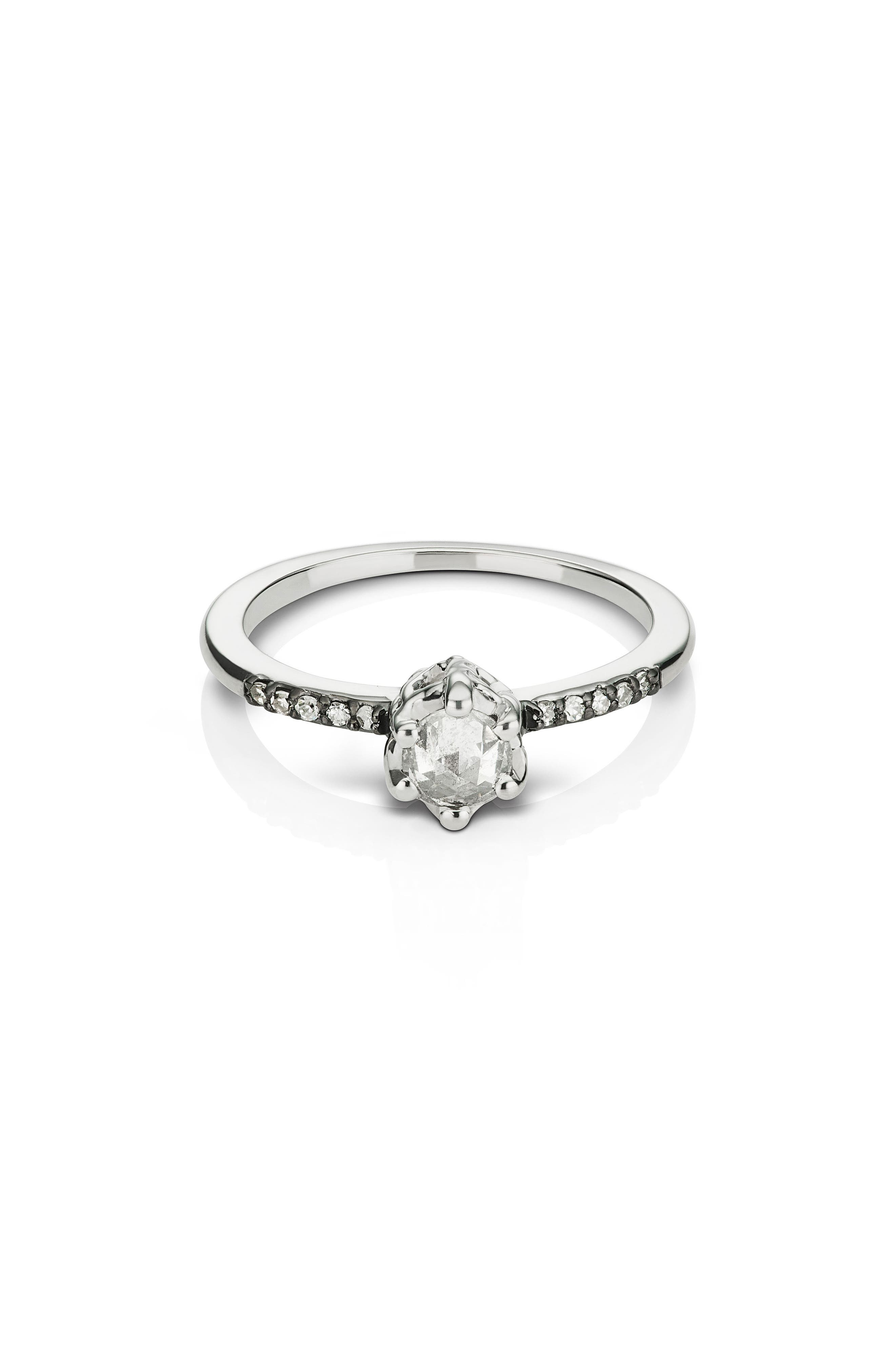 Entity Diamond Solitaire Ring,                         Main,                         color, WHITE GOLD