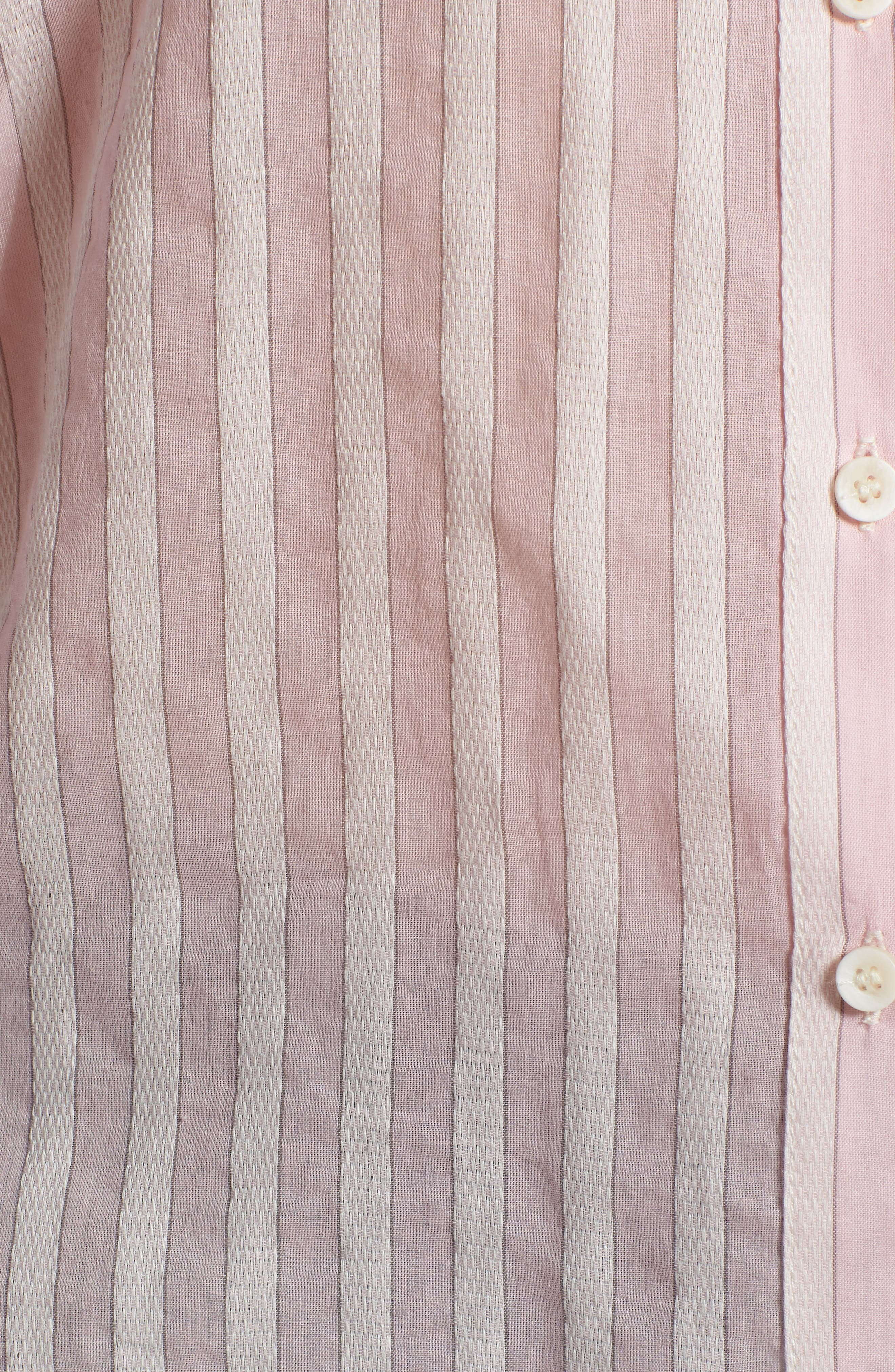 Stripe Shirt,                             Alternate thumbnail 6, color,                             PINK OPAL TAILOR STRIPE