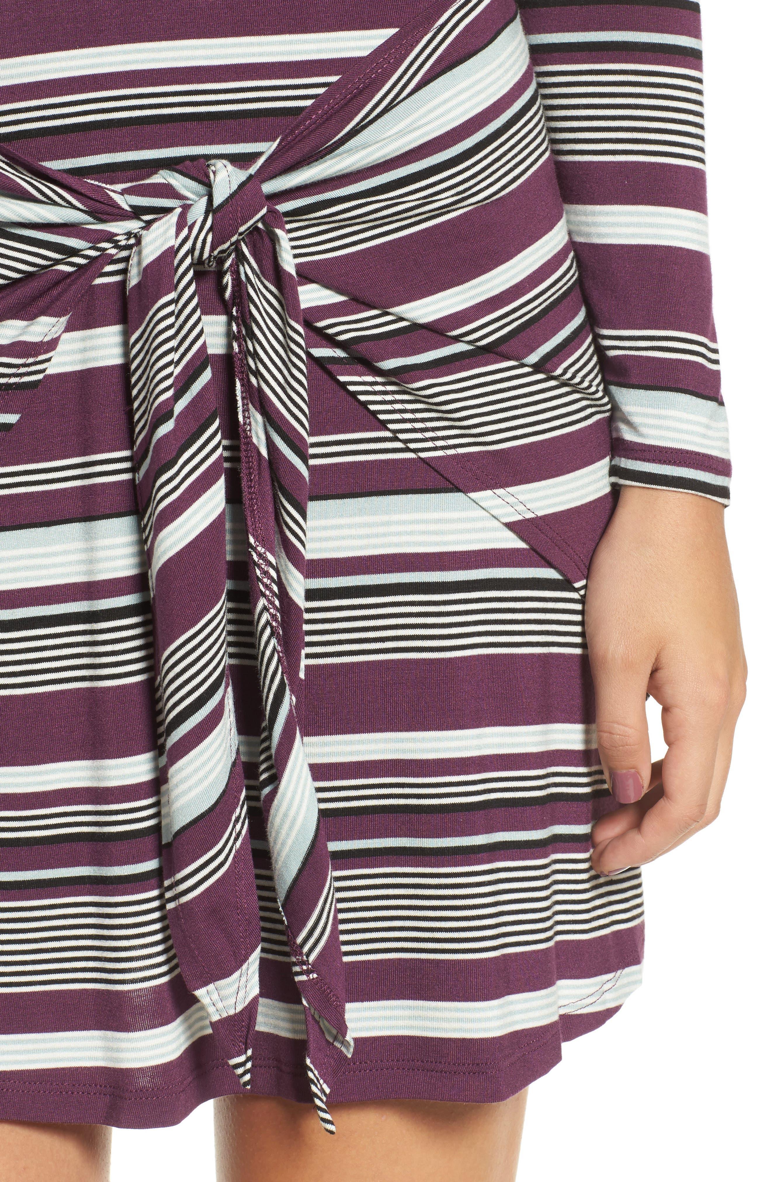 Tie Waist Dress,                             Alternate thumbnail 8, color,