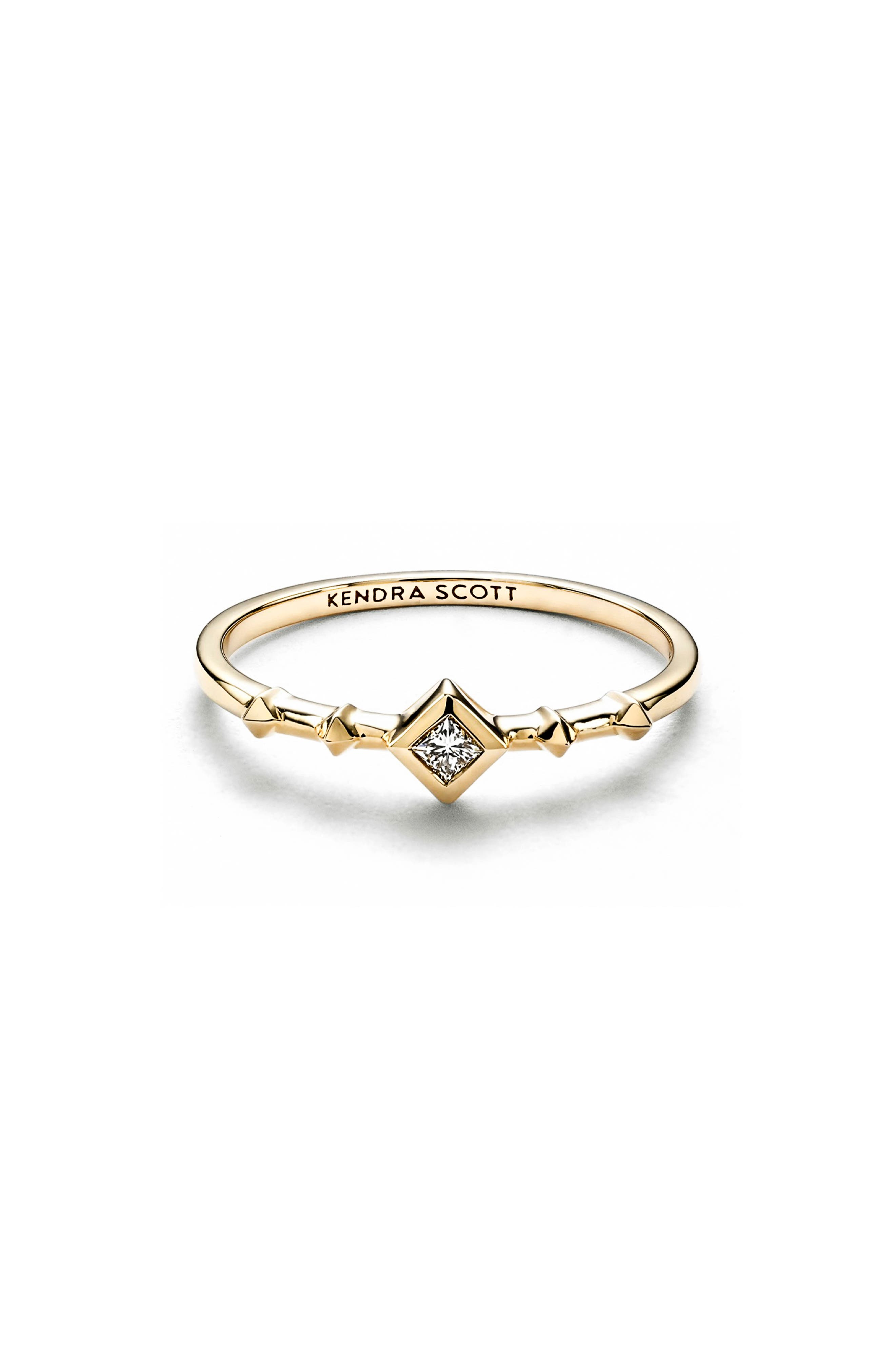Wave Diamond & Gold Stack Ring,                         Main,                         color, 190