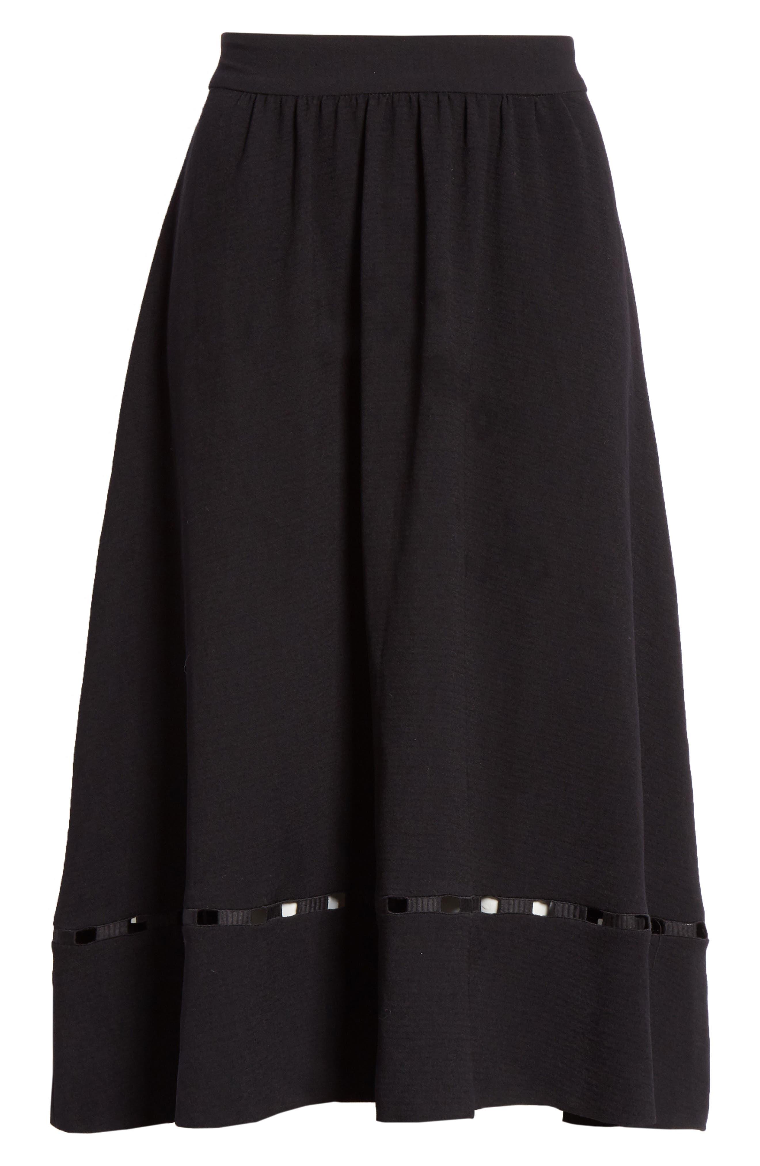 Carmen A-Line Skirt,                             Alternate thumbnail 6, color,                             NOIR