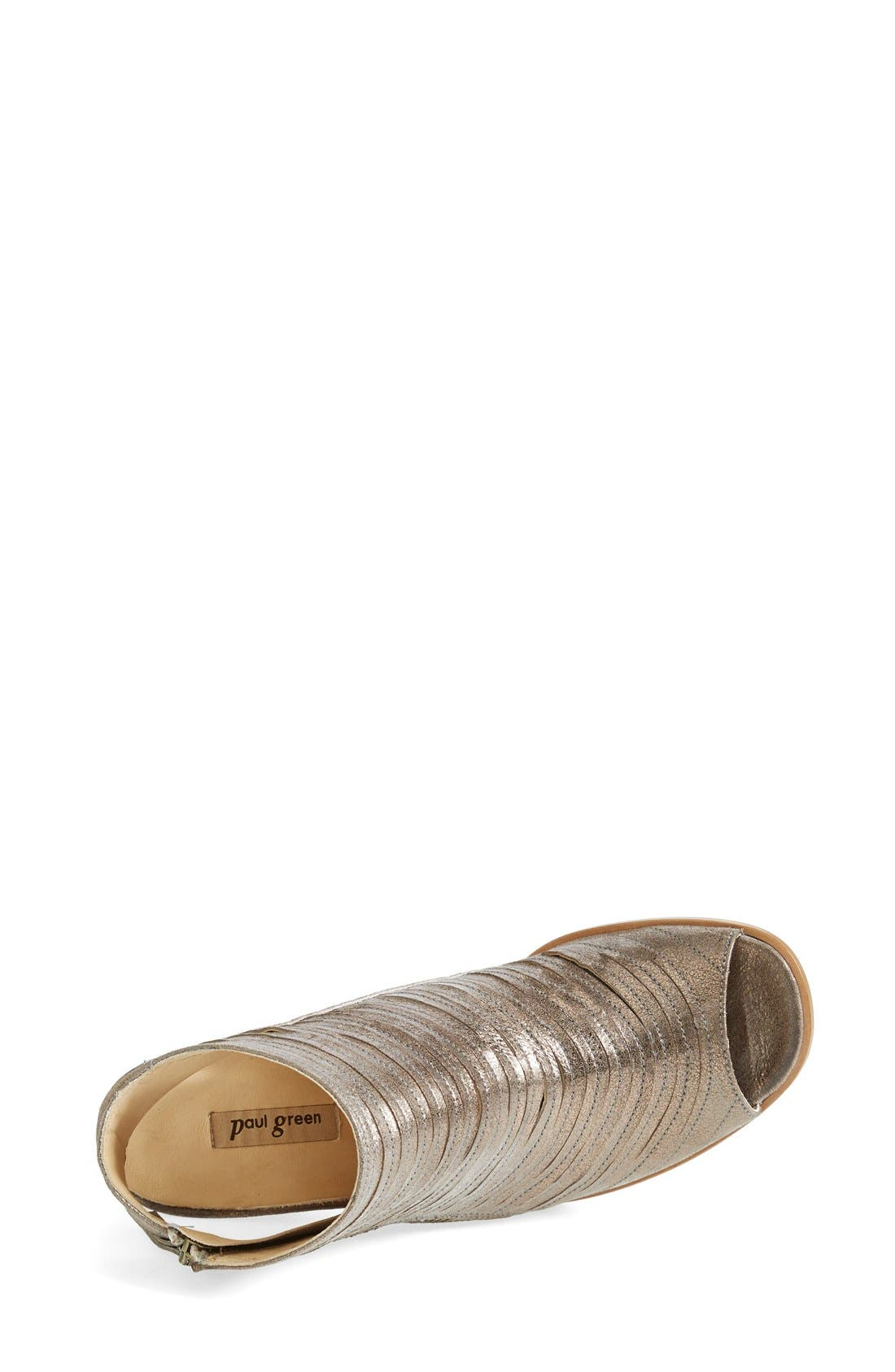 'Cayanne' Leather Peep Toe Sandal,                             Alternate thumbnail 17, color,