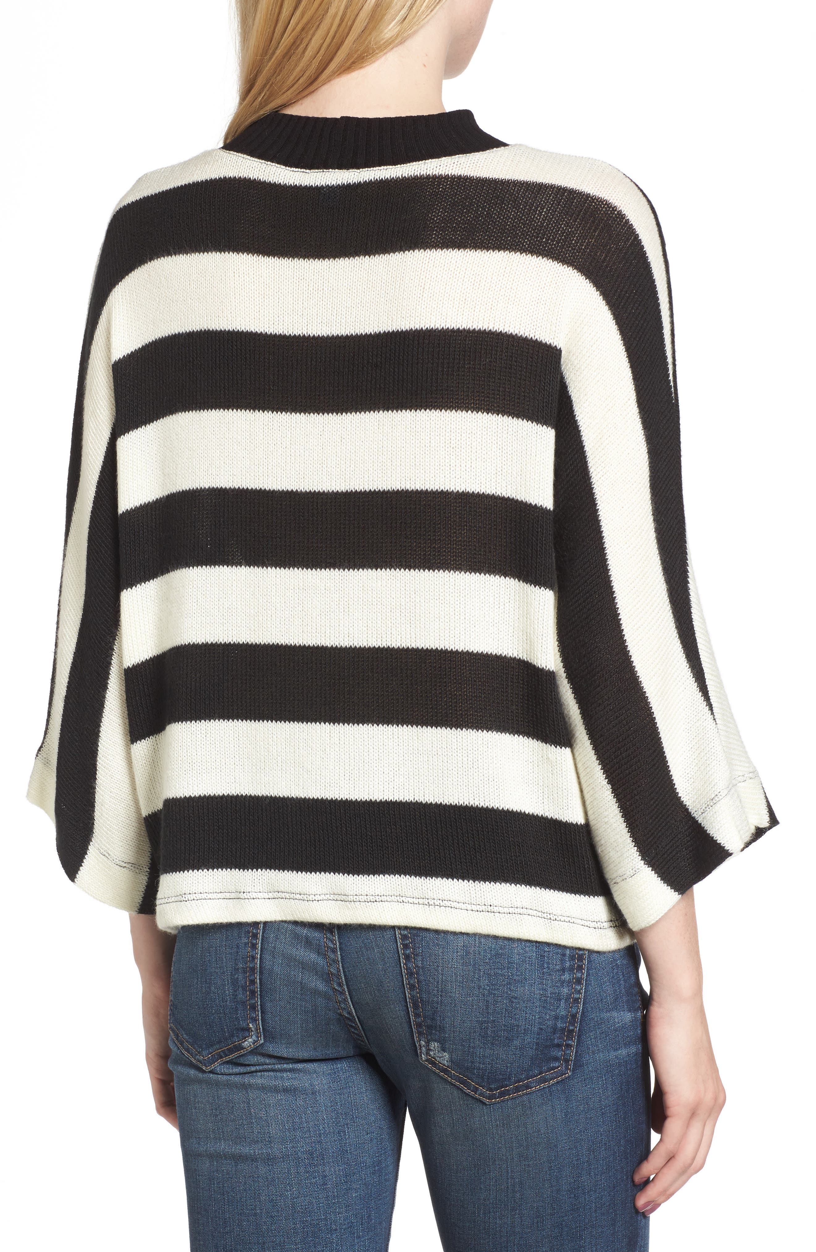 Kingston Stripe Sweater,                             Alternate thumbnail 2, color,                             001