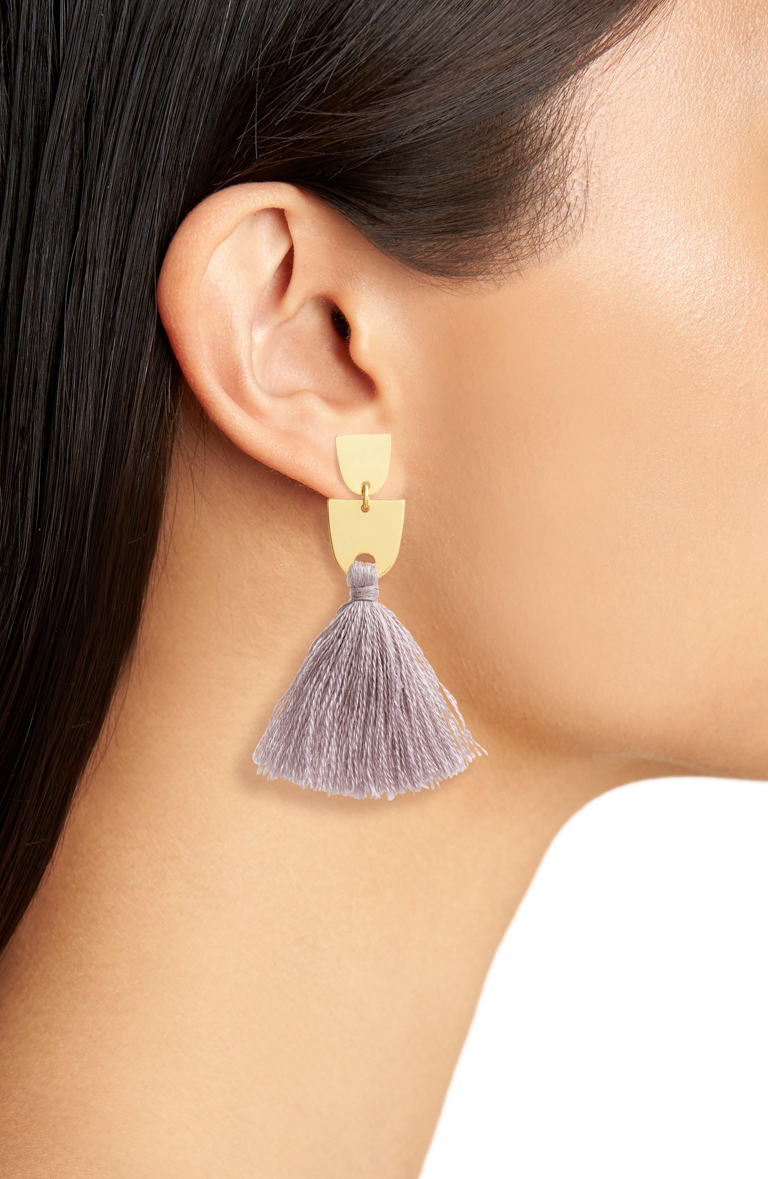 Tassel Drop Earrings,                             Alternate thumbnail 2, color,                             500