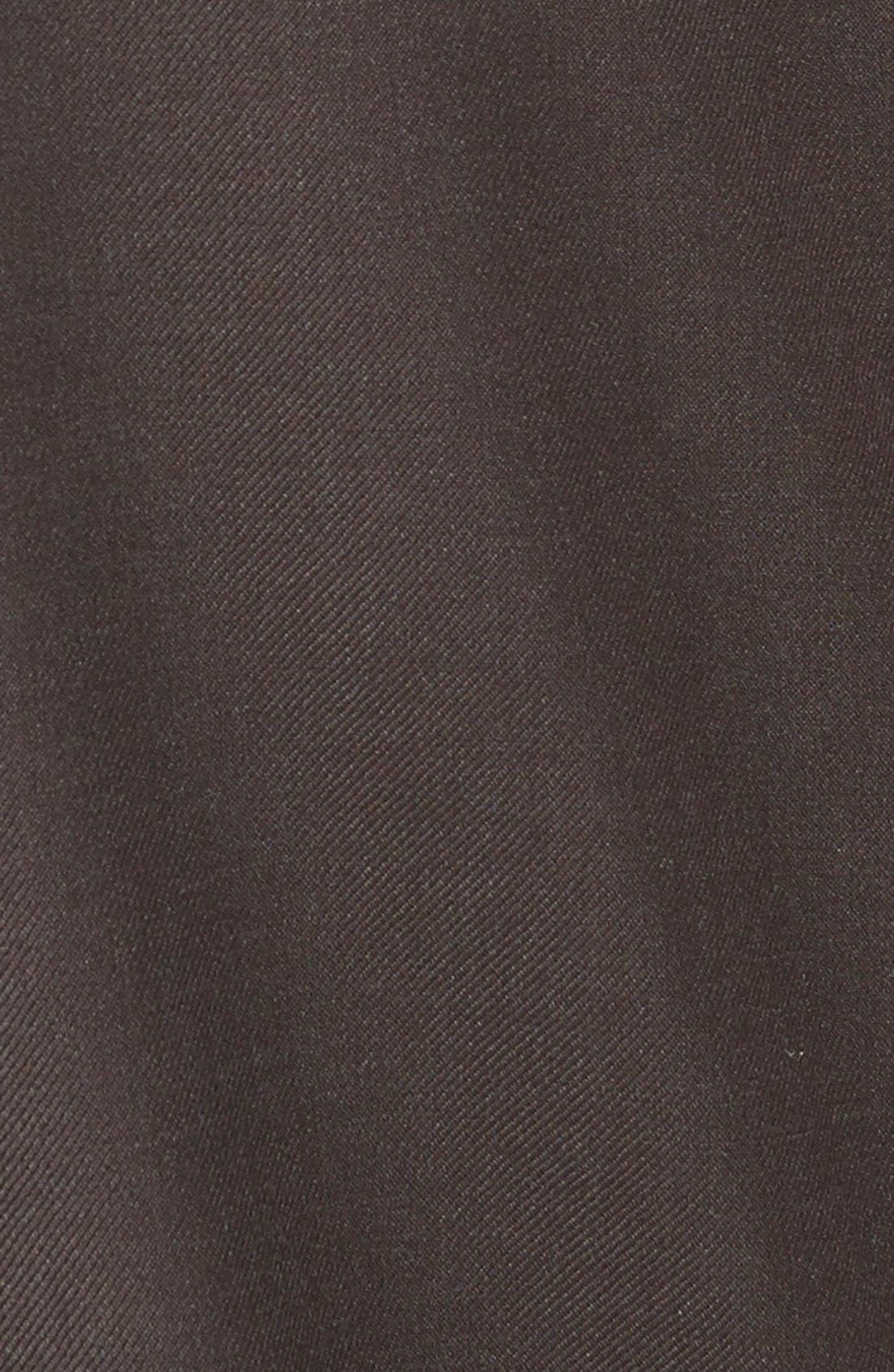 'Luxury Serge' Double Pleated Wool Trousers,                             Alternate thumbnail 2, color,                             ESPRESSO
