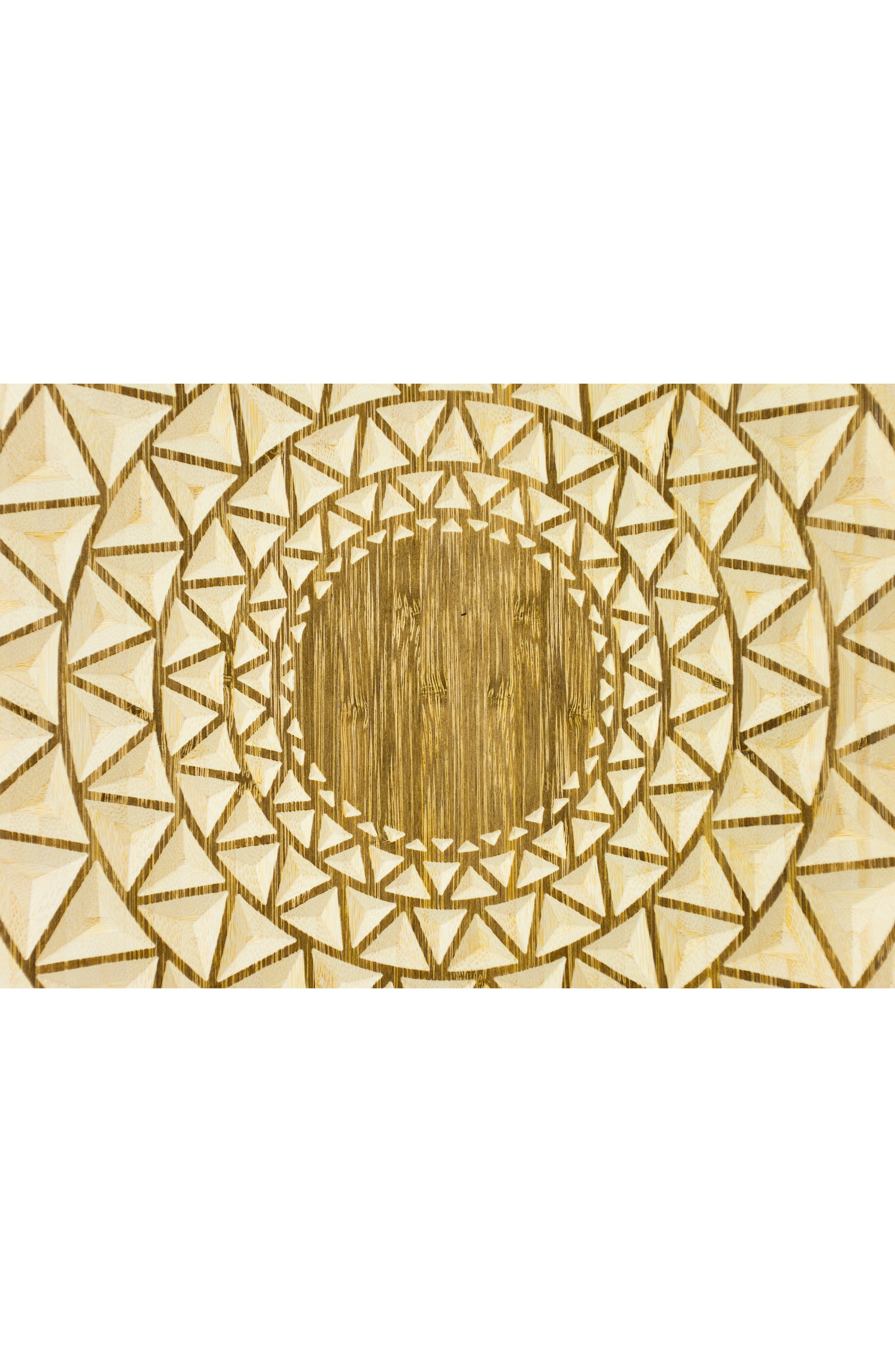 Radial 18 Wooden Wall Art,                             Alternate thumbnail 2, color,                             STAIN