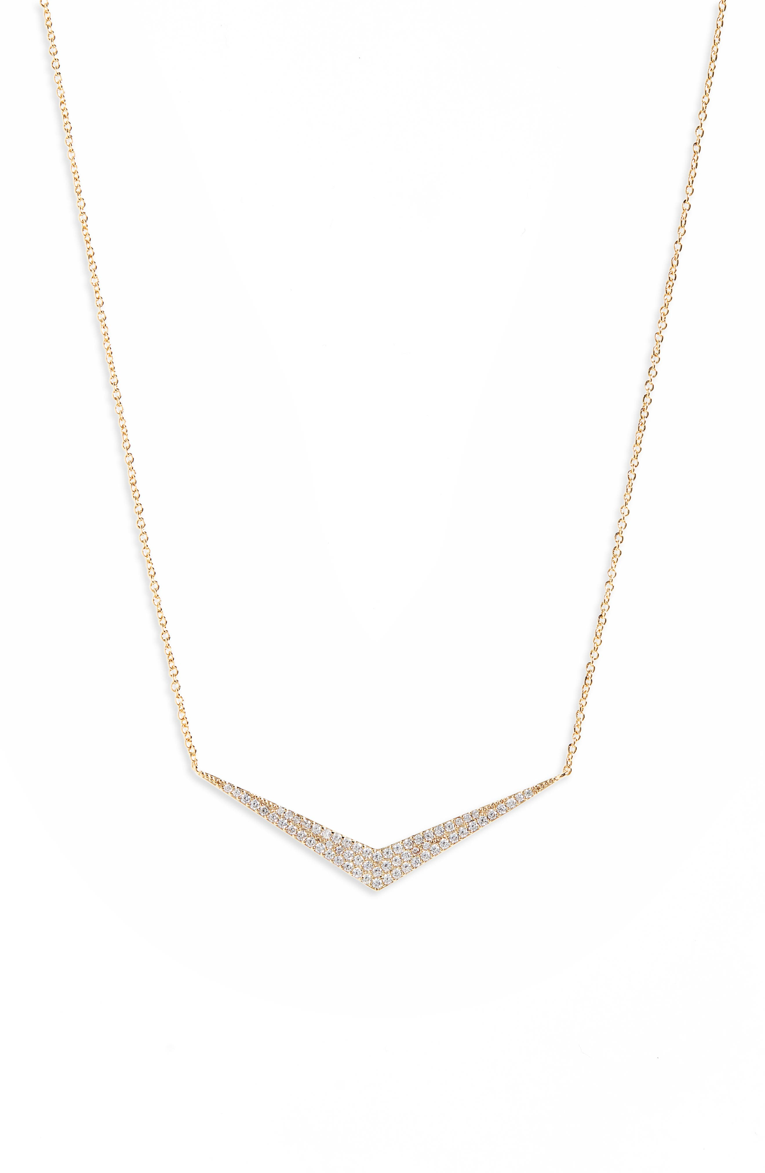 Pavé Necklace, Main, color, GOLD