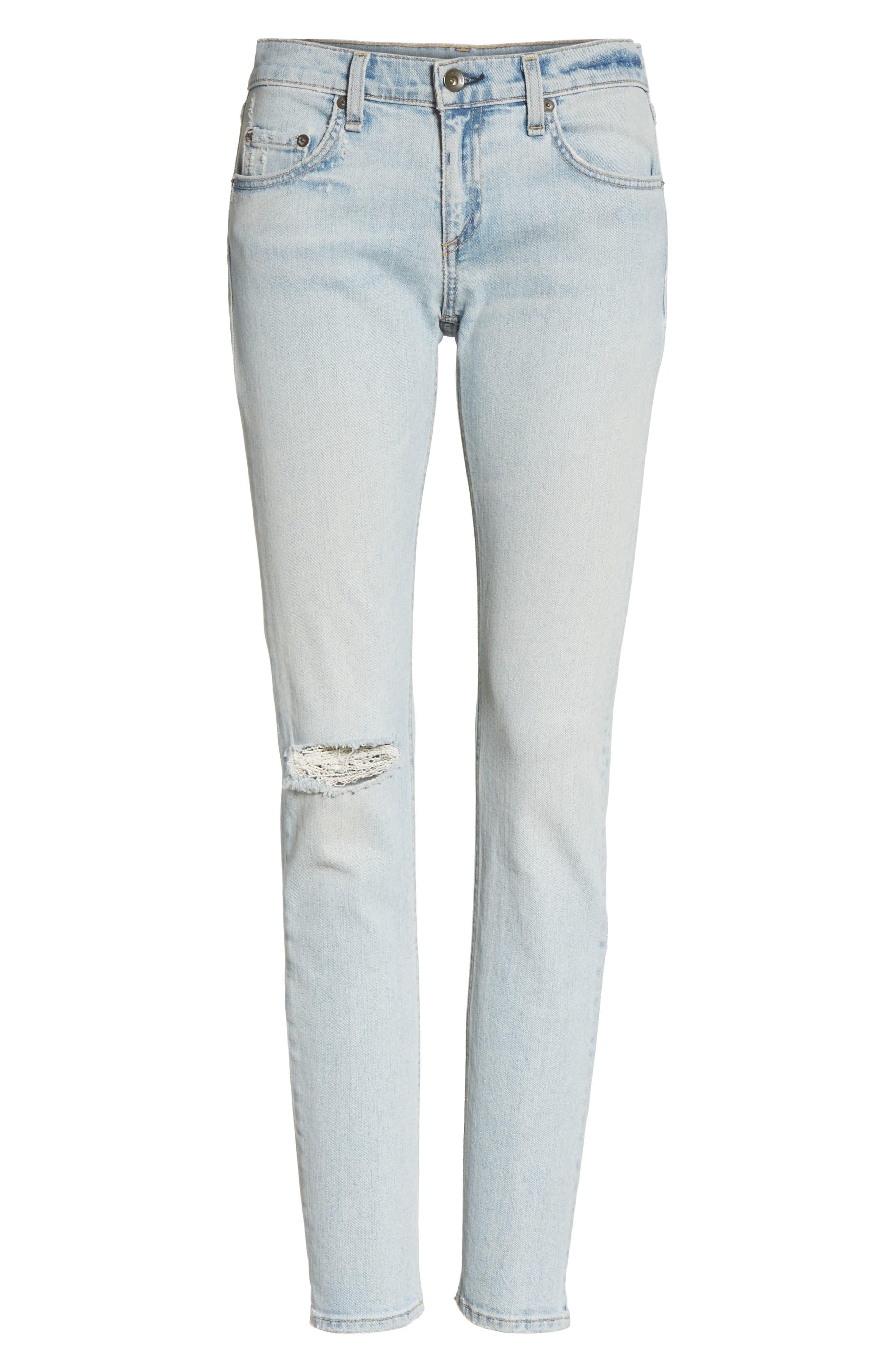 The Dre Slim Boyfriend Jeans,                             Alternate thumbnail 7, color,                             450