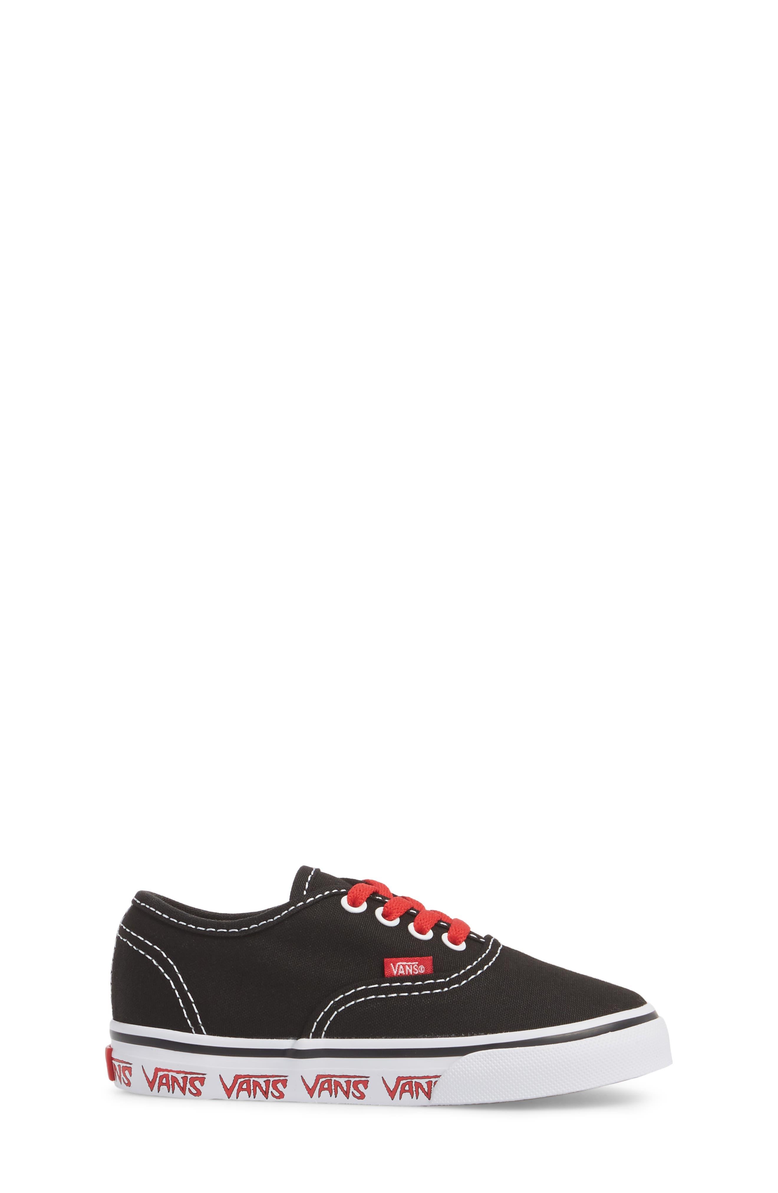 Authentic Sketch Sneaker,                             Alternate thumbnail 3, color,                             001
