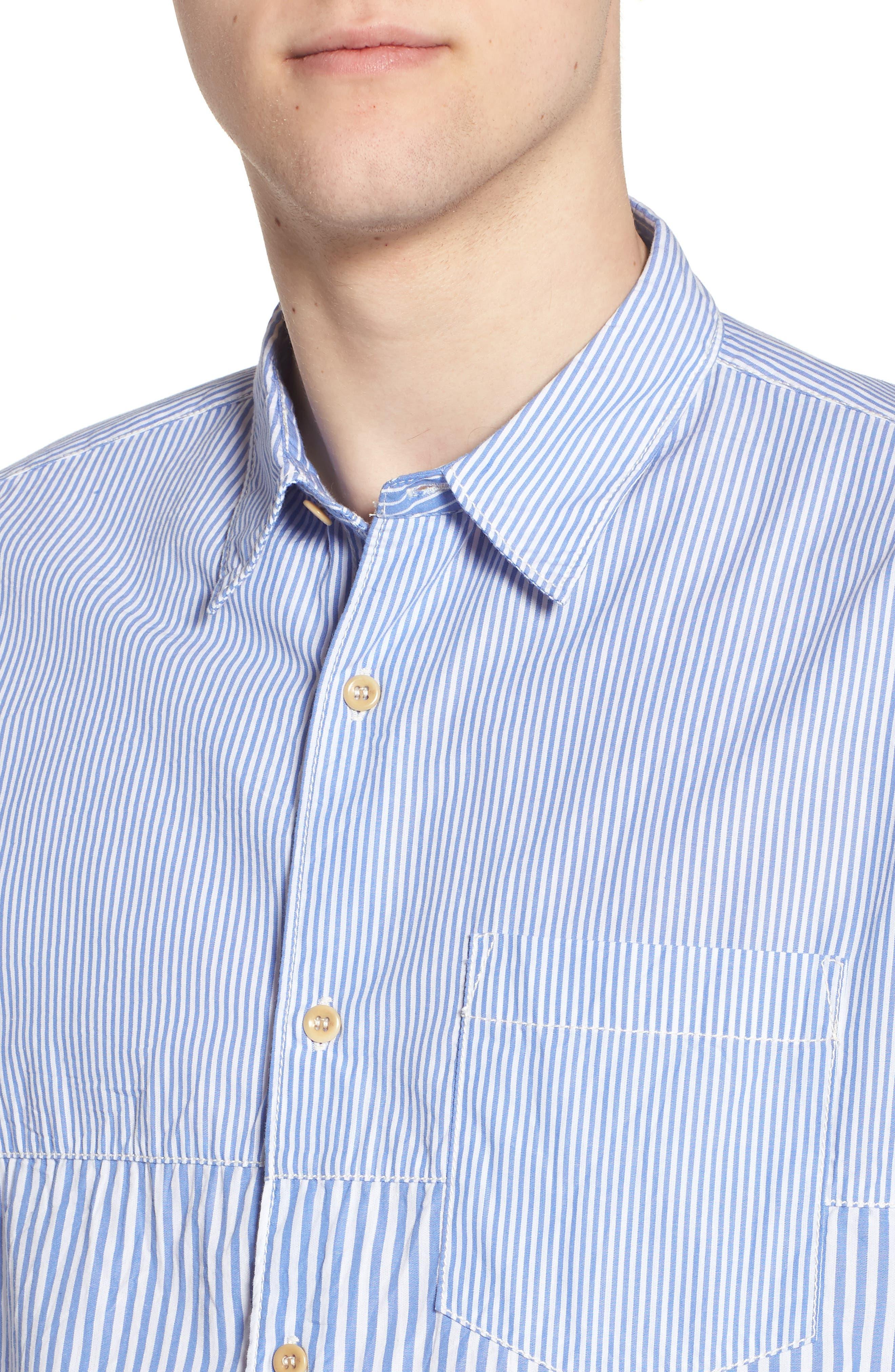 Regular Fit Stripe Sport Shirt,                             Alternate thumbnail 4, color,                             400