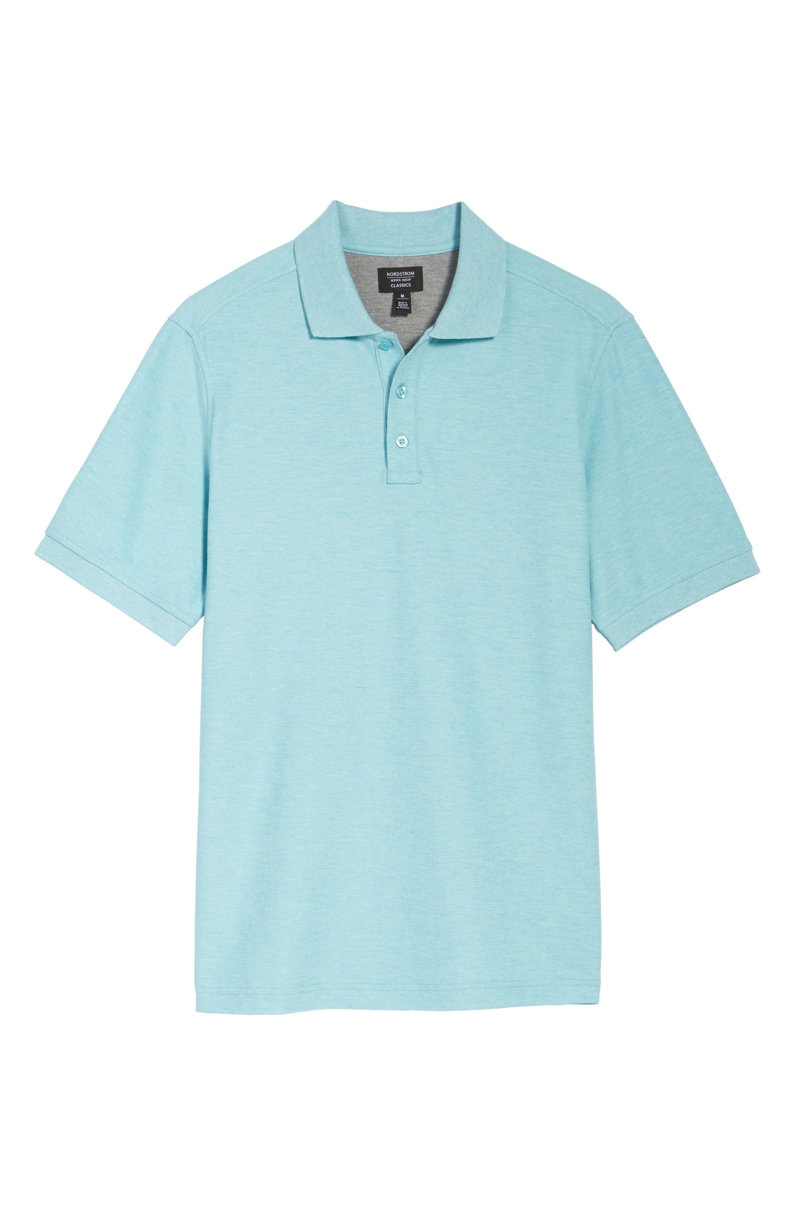 Classic Regular Fit Piqué Polo,                             Alternate thumbnail 6, color,                             441