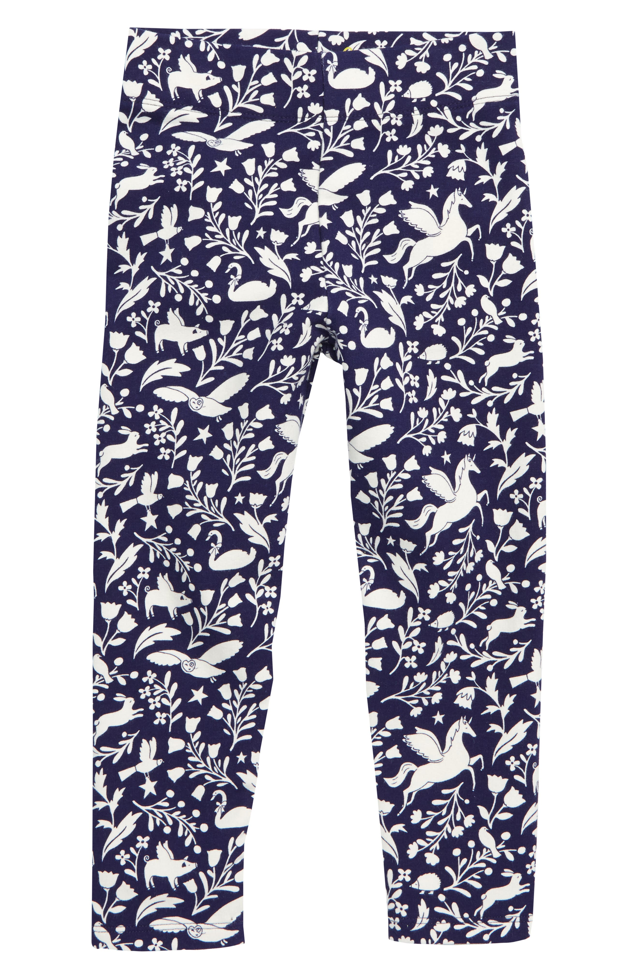 Toddler Girls Mini Boden Cosy Print Leggings Size 23Y  Blue