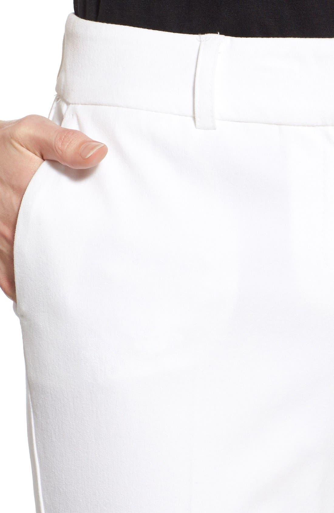 Crop Stretch Cotton Pants,                             Alternate thumbnail 93, color,