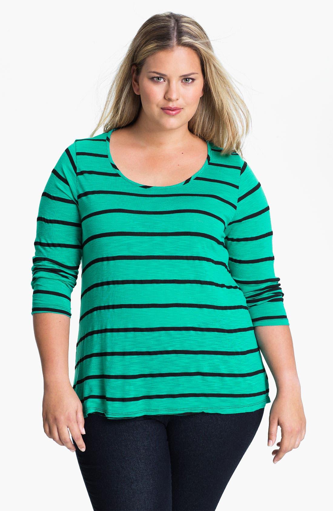 Stripe Swing Tee,                             Main thumbnail 1, color,                             400