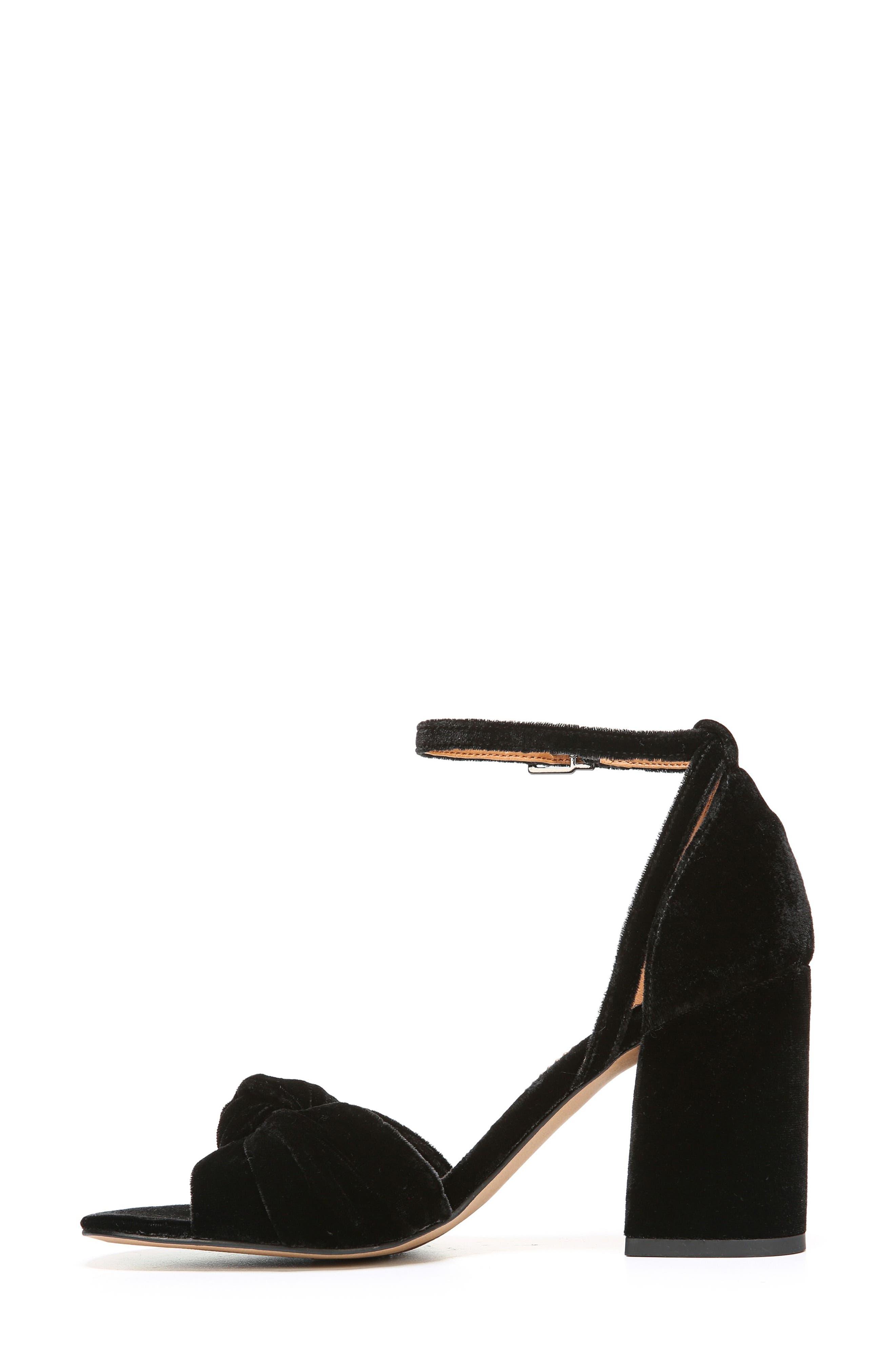 Edana Knotted Block Heel Sandal,                             Alternate thumbnail 2, color,                             001