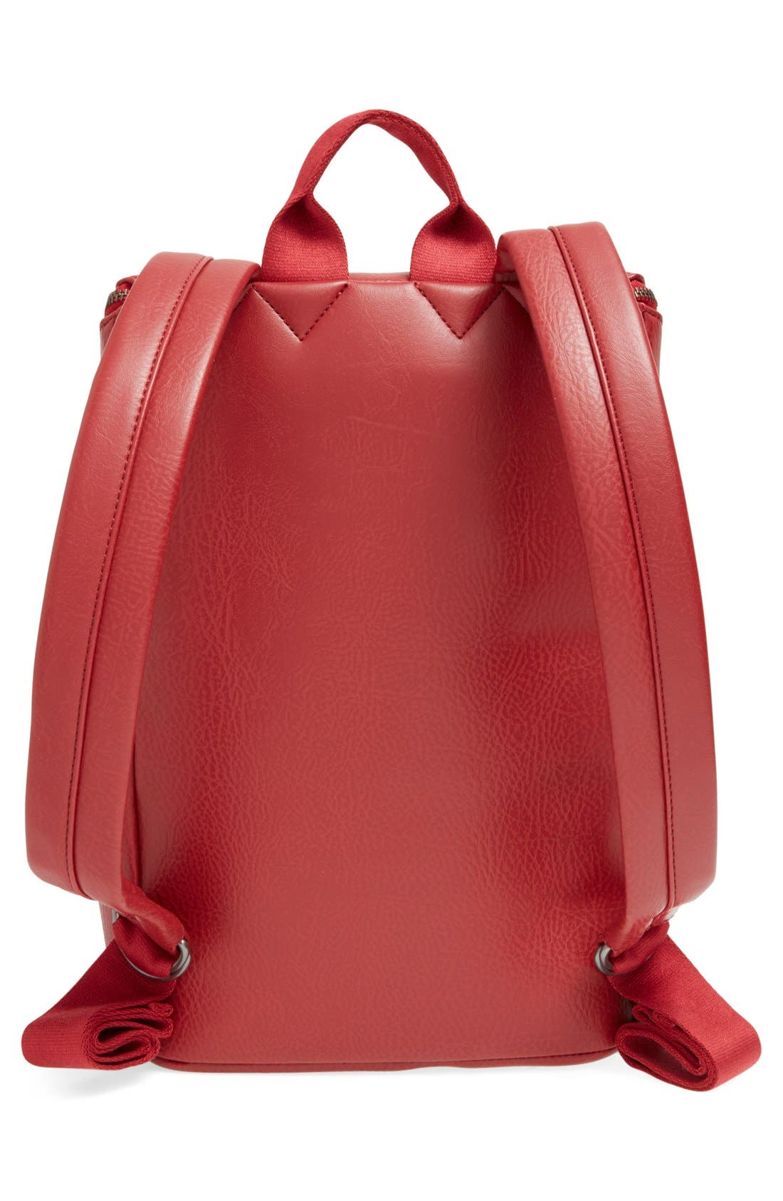 'Brave' Faux Leather Backpack,                             Alternate thumbnail 61, color,