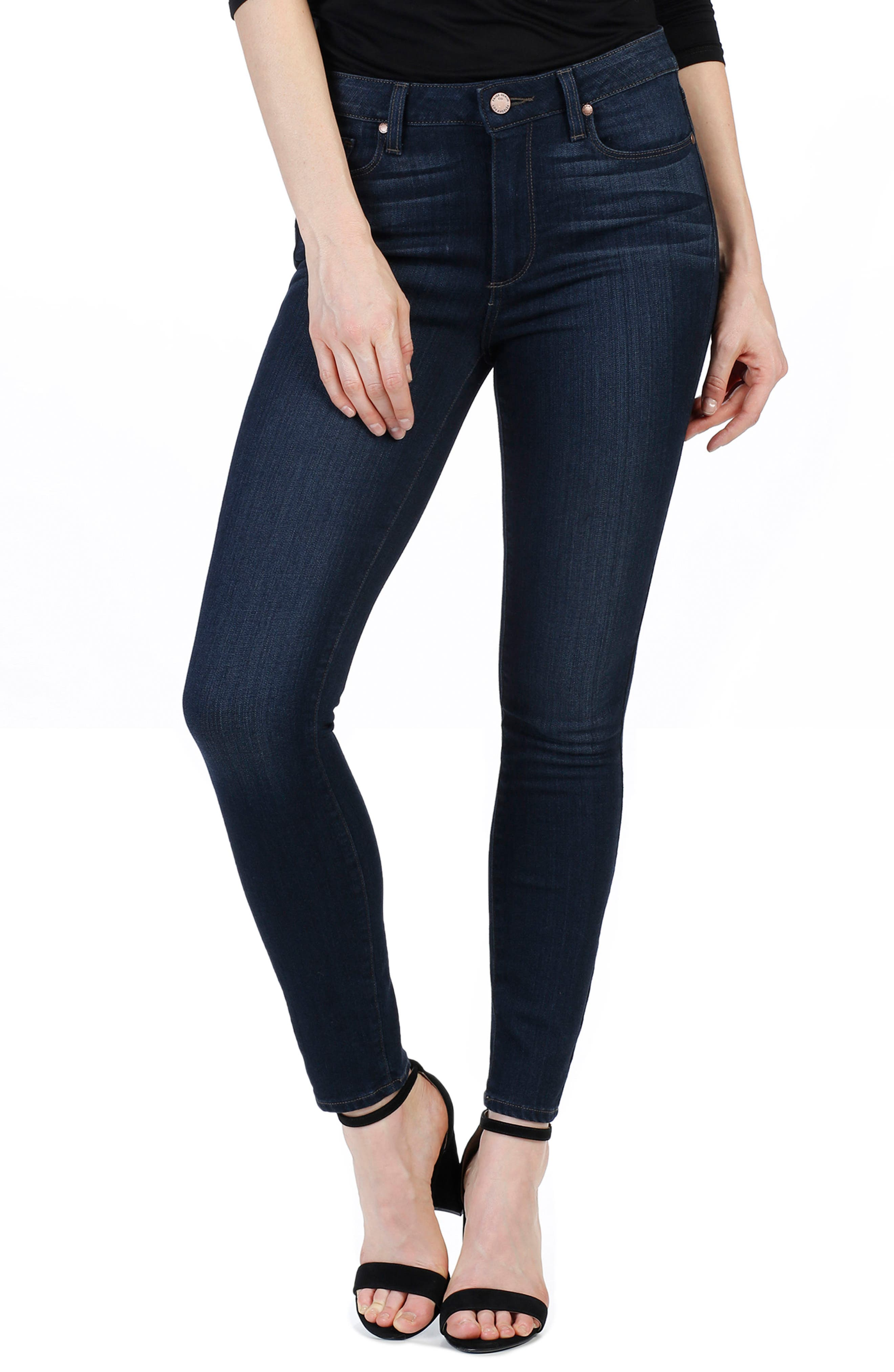 Transcend - Hoxton High Waist Ankle Skinny Jeans,                             Main thumbnail 1, color,