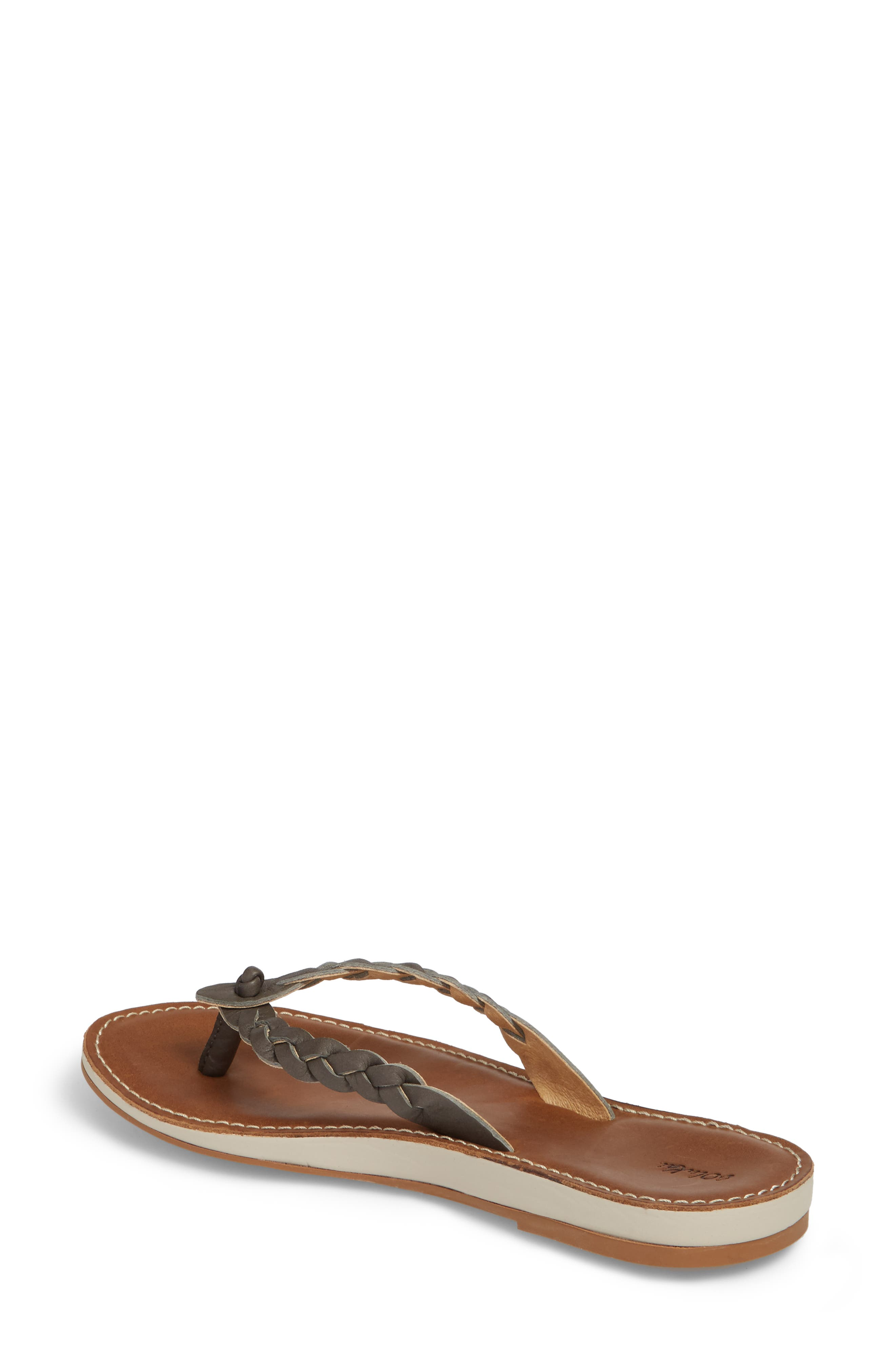 Kahiko Flip-Flop,                             Alternate thumbnail 2, color,                             SLATE/ TAN LEATHER