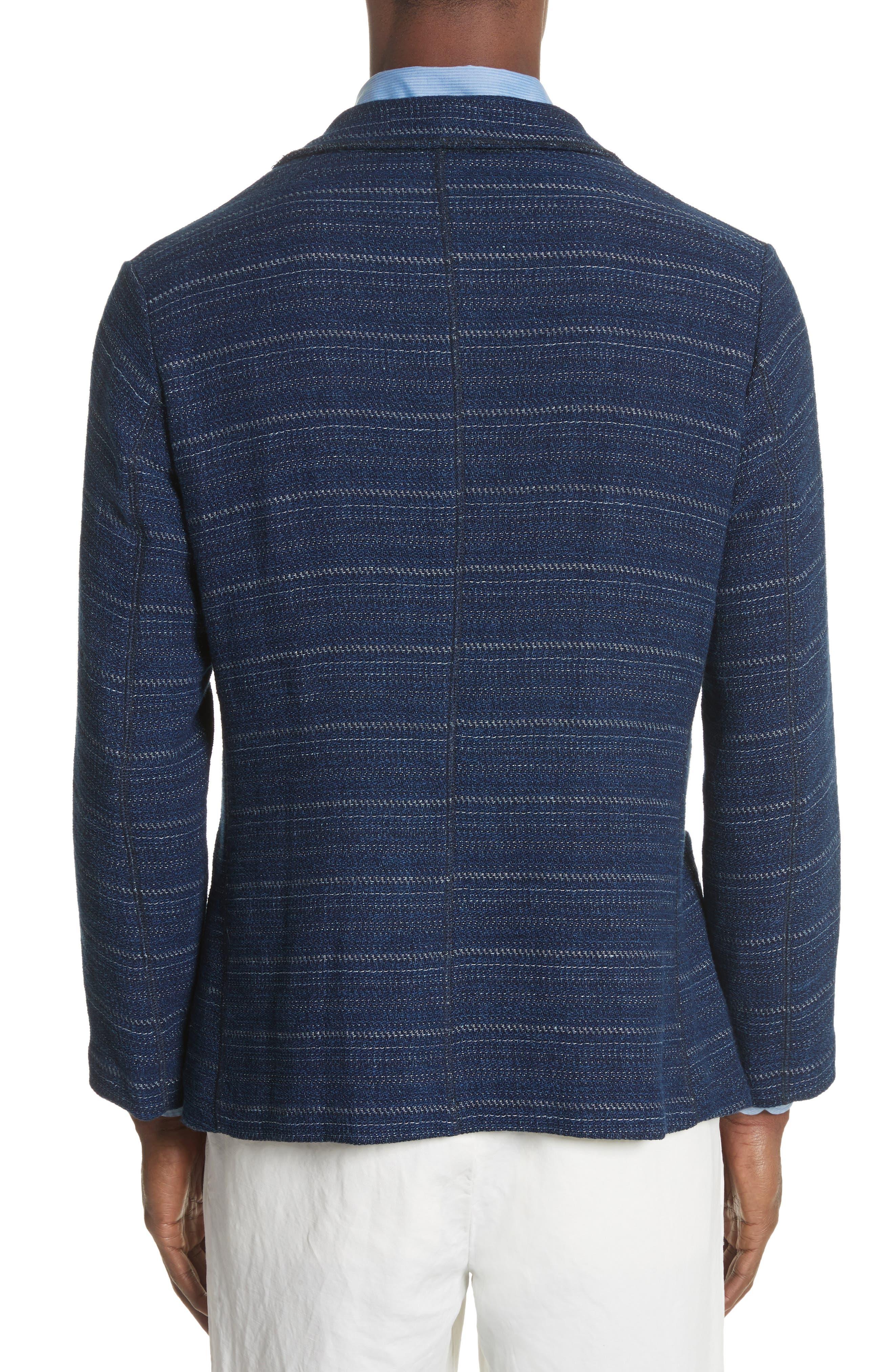 Napoli Nicola Barre Stripe Cotton & Linen Jacket,                             Alternate thumbnail 2, color,                             410
