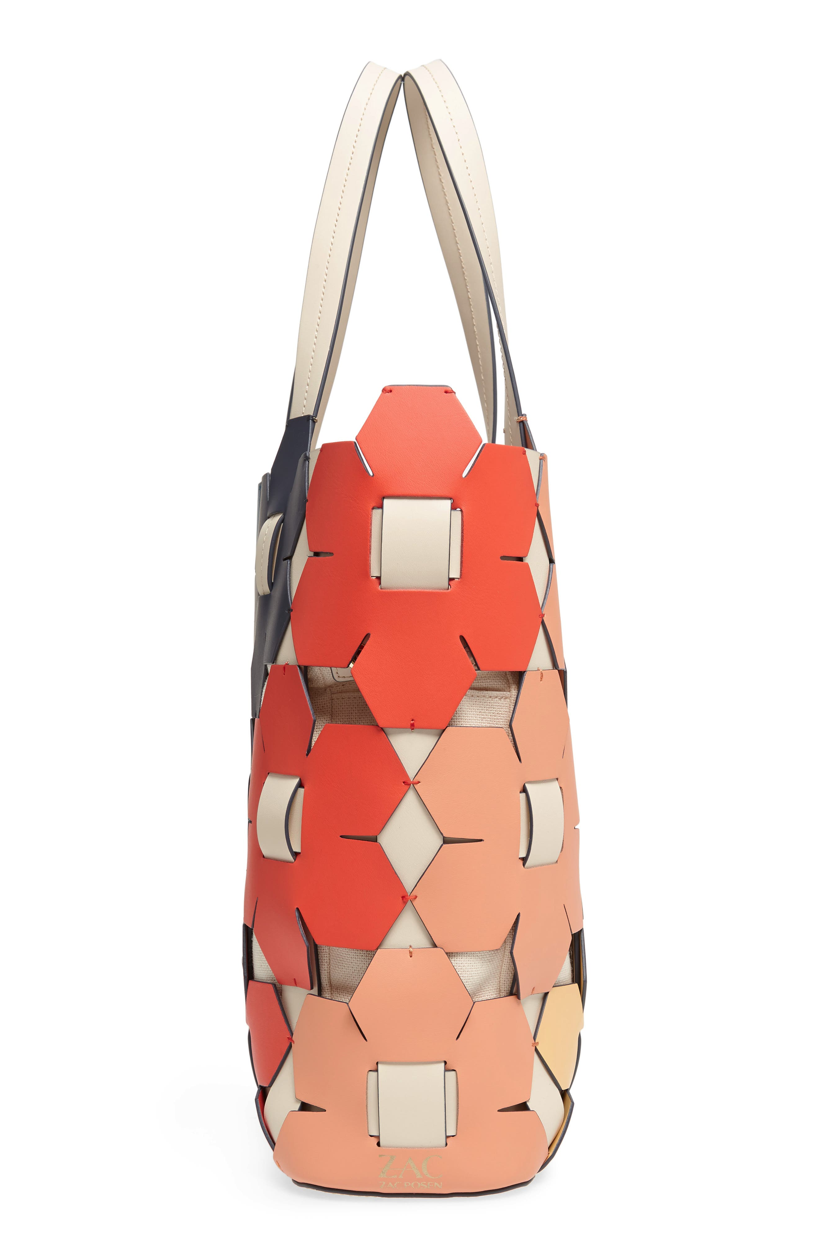 ZAC Zac Earth Hex Floral Leather Tote,                             Alternate thumbnail 5, color,                             600