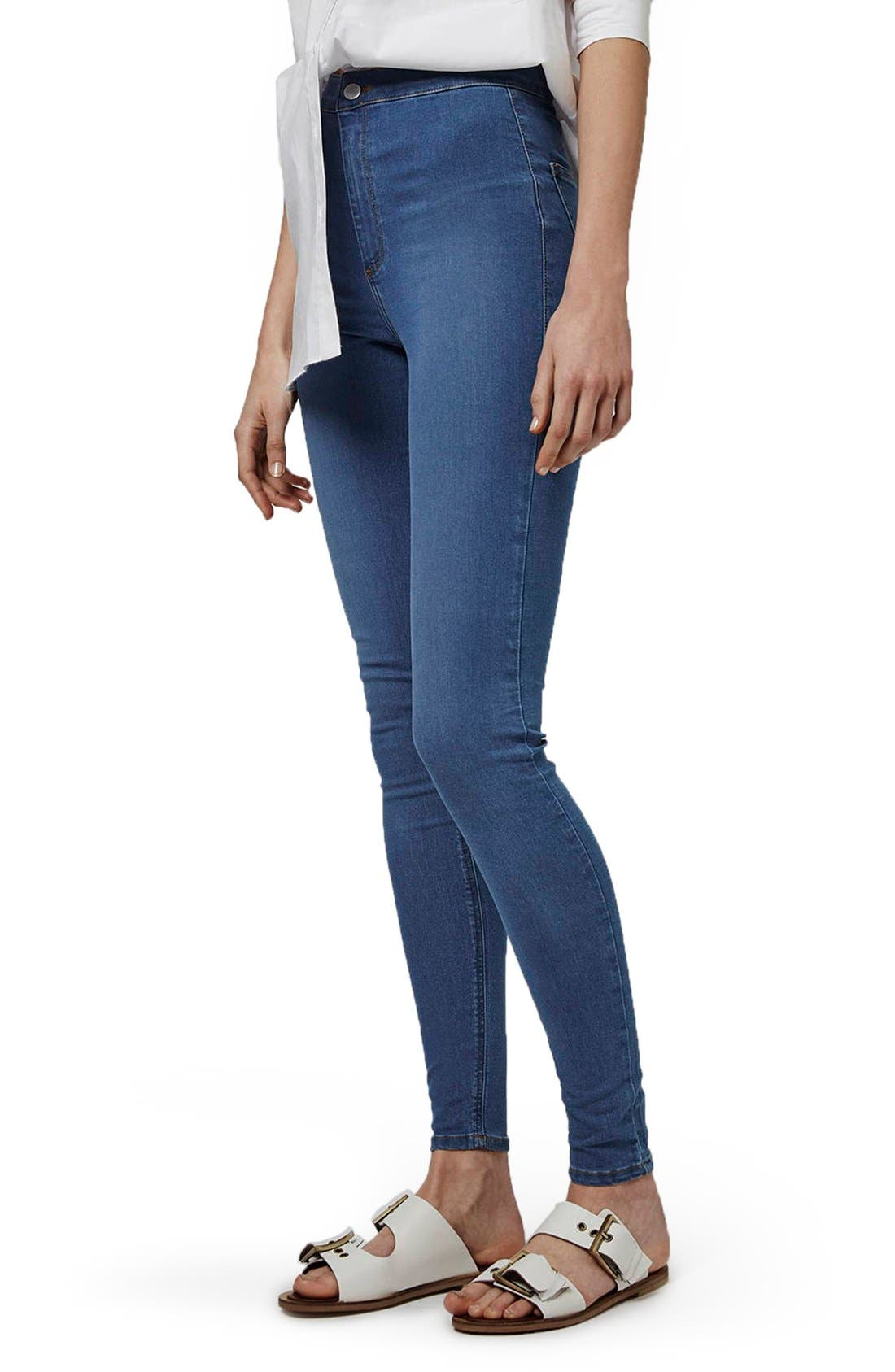 'Joni' High Waist Skinny Jeans,                             Main thumbnail 1, color,                             400