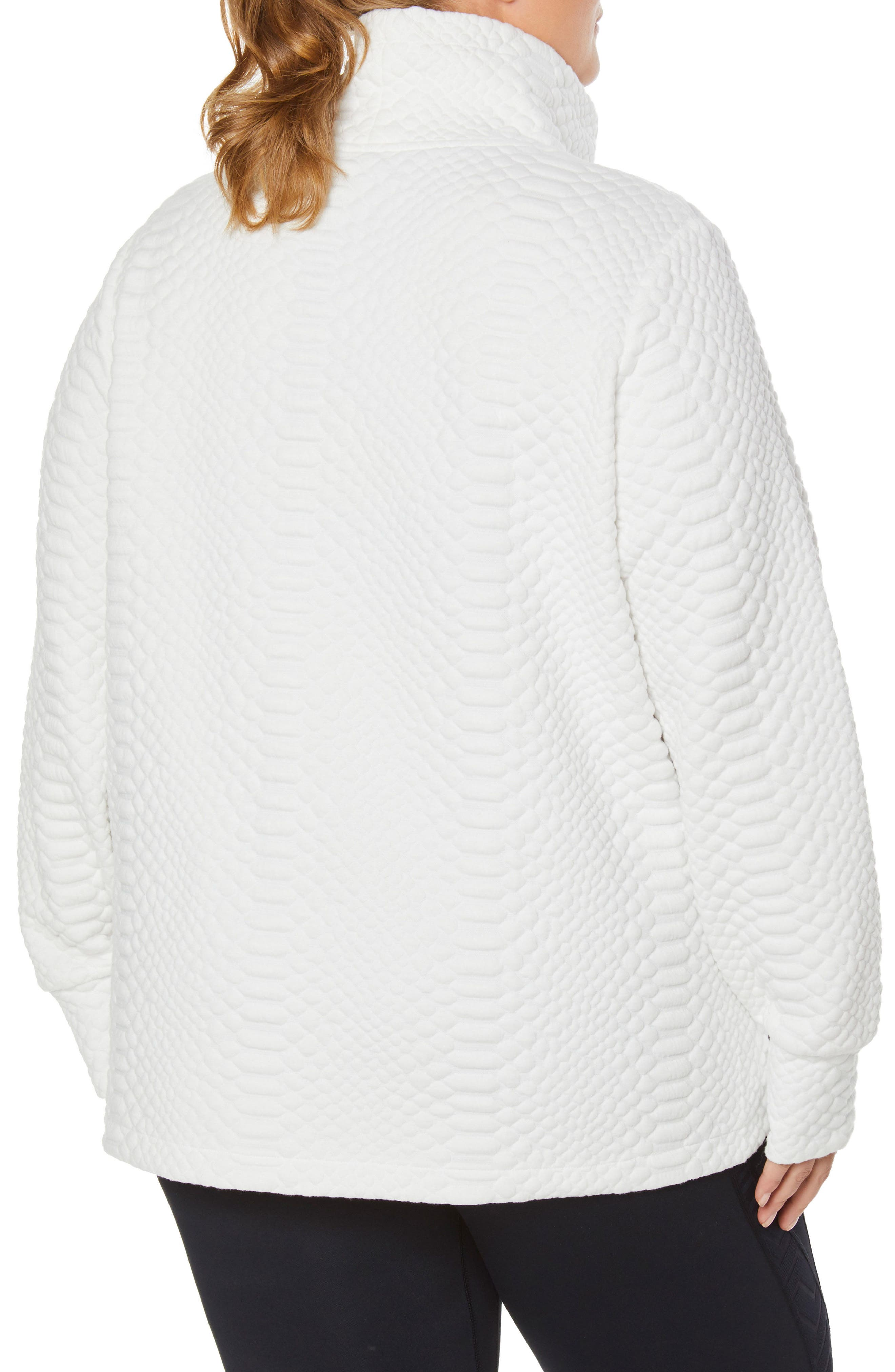 Saturday Mock Neck Pullover,                             Alternate thumbnail 2, color,                             WINTER WHITE