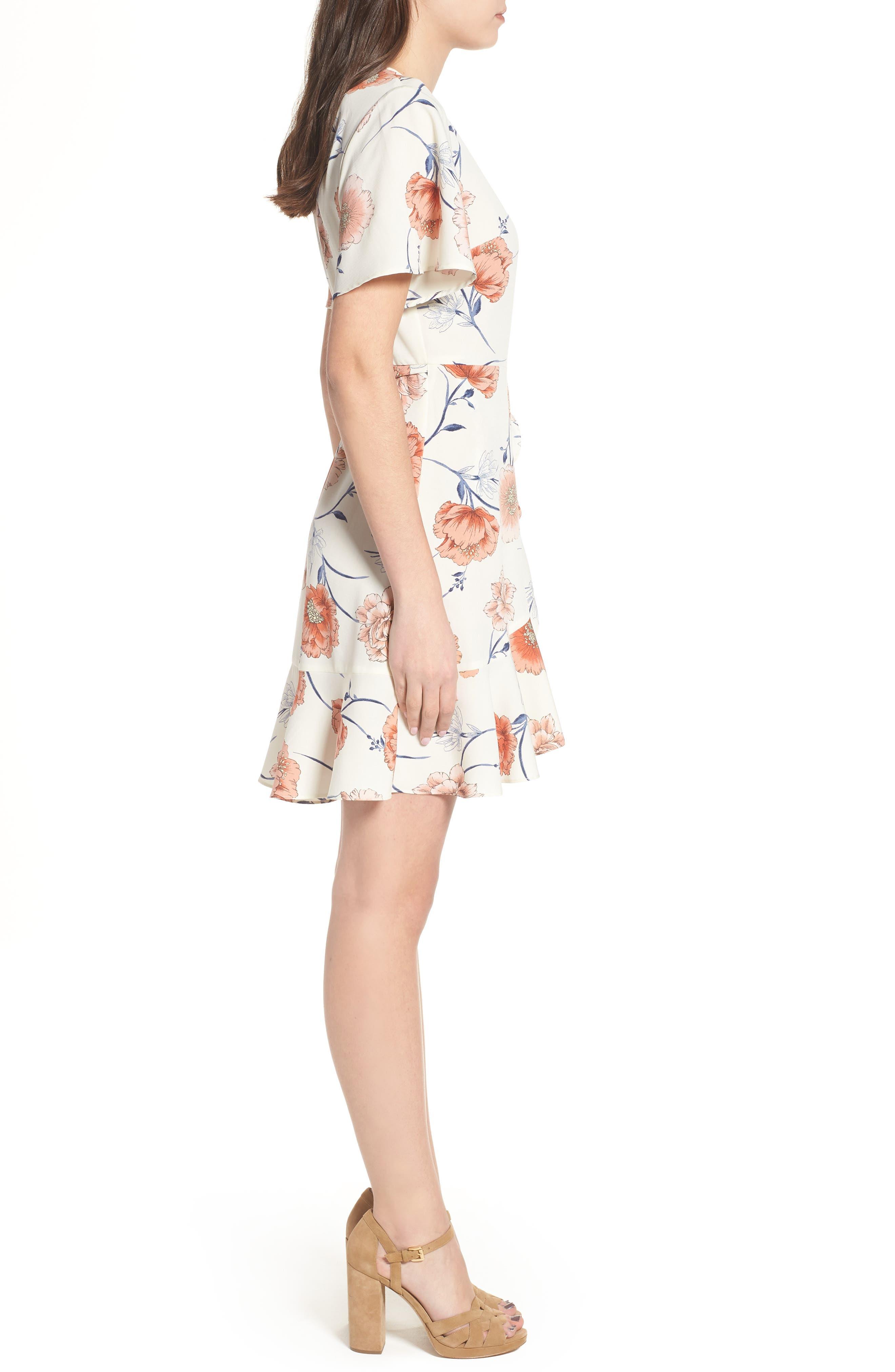 Lucy Floral Wrap Dress,                             Alternate thumbnail 12, color,