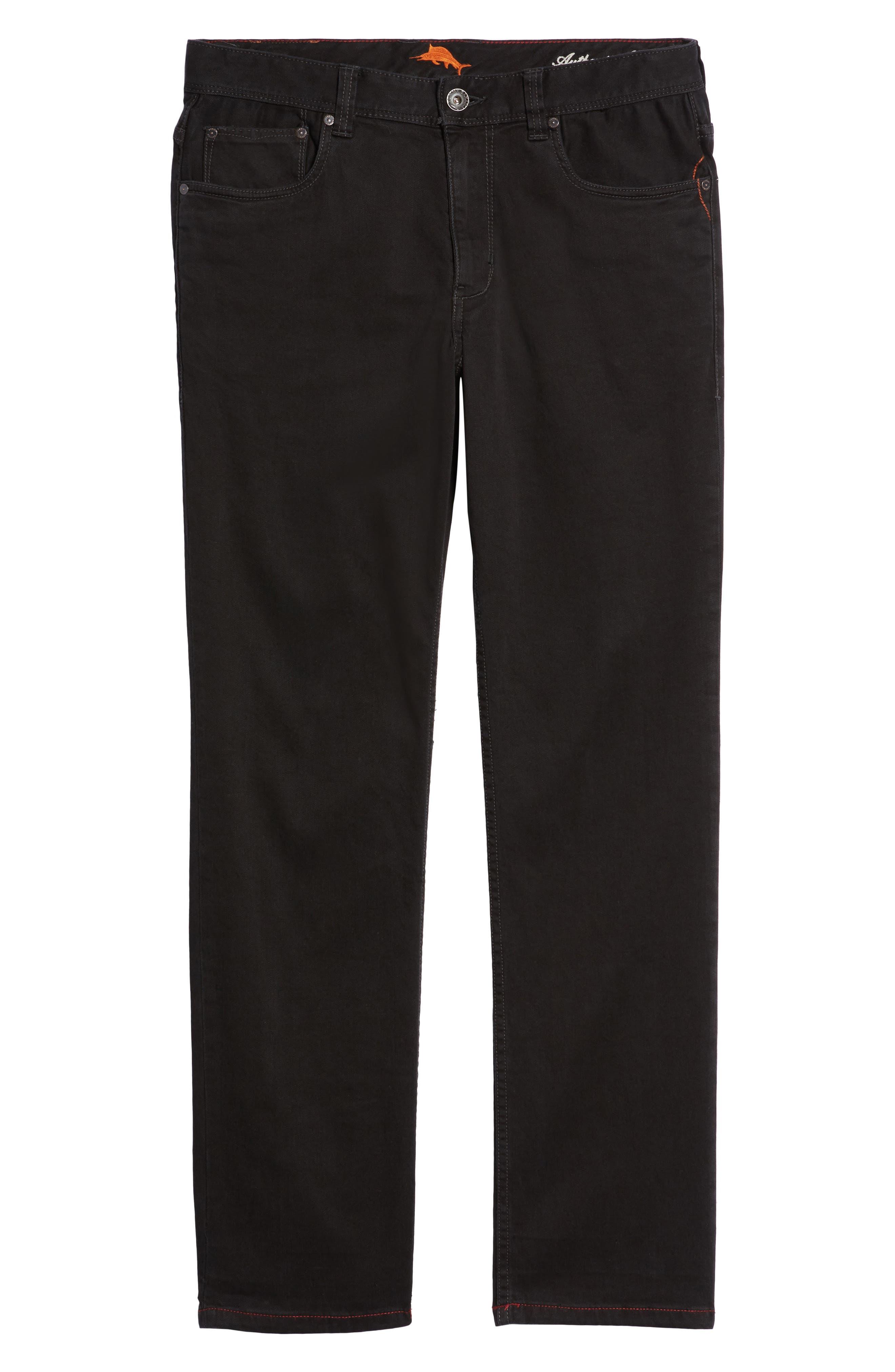 Sand Straight Leg Jeans,                             Alternate thumbnail 6, color,                             BLACK OVERDYE