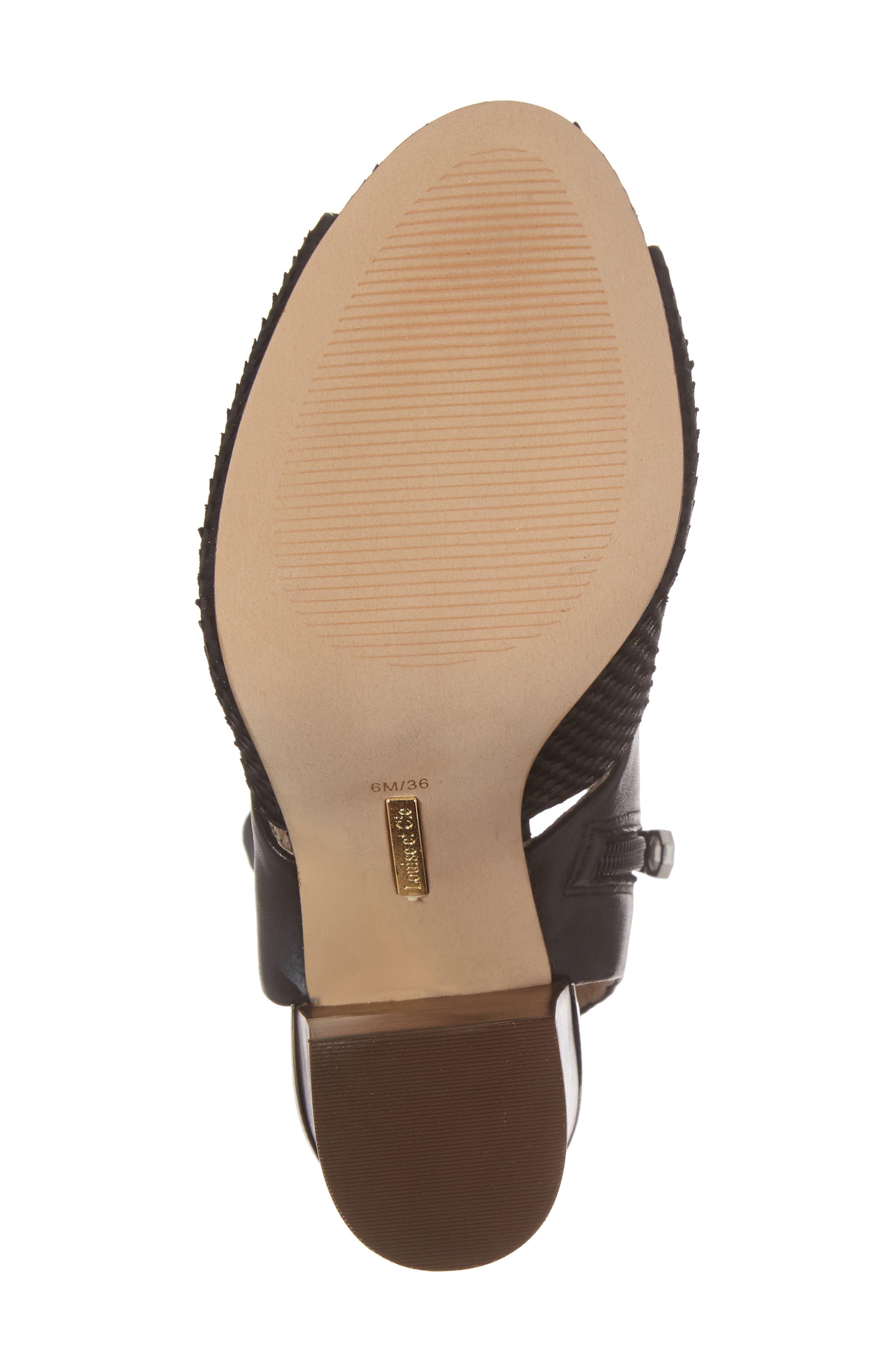 Louise et Cit Katlin Block Heel Sandal,                             Alternate thumbnail 6, color,                             001