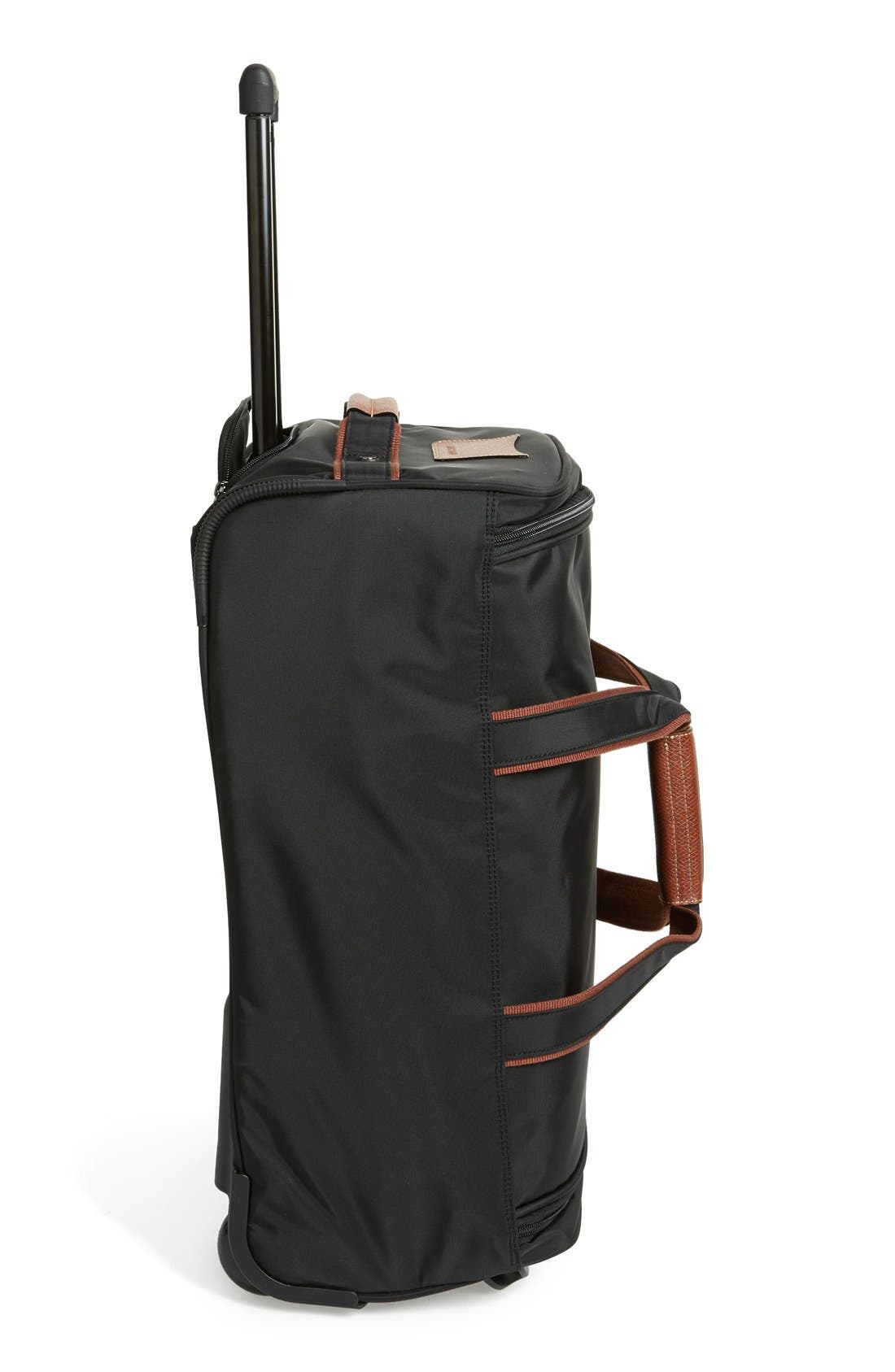 'Small Le Pliage' Wheeled Travel Bag,                             Alternate thumbnail 3, color,                             001